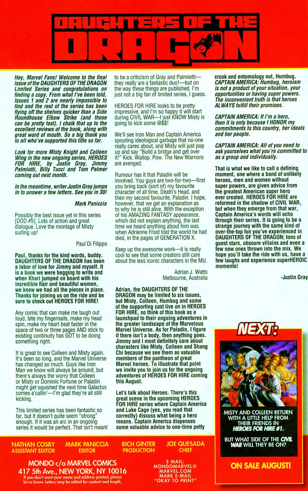 Read online Daughters of the Dragon comic -  Issue #6 - 24