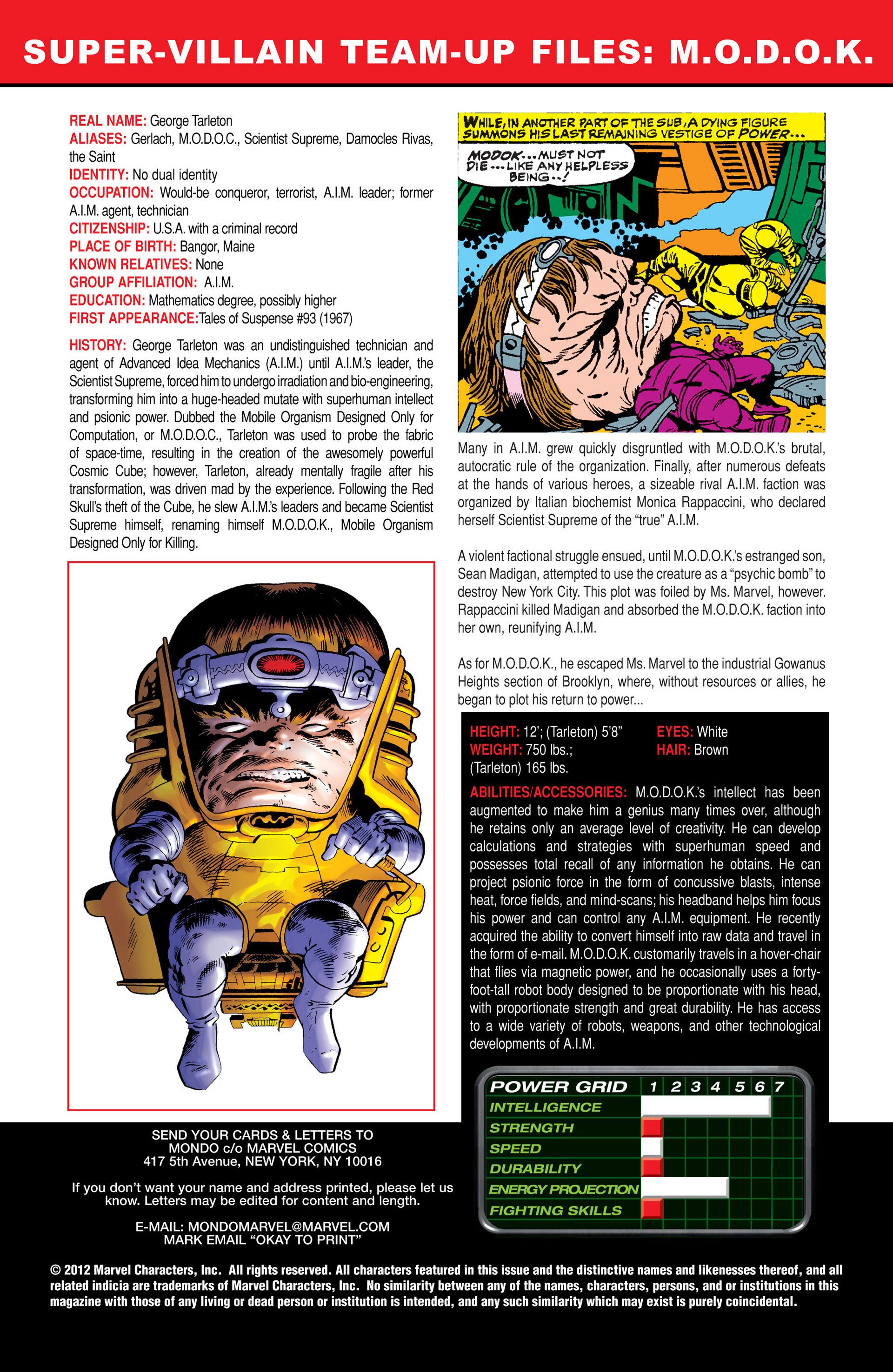 Read online Super-Villain Team-Up/MODOK's 11 comic -  Issue #1 - 24