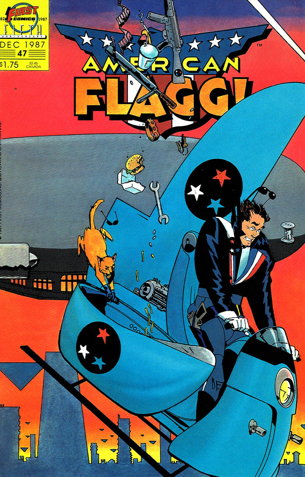 Read online American Flagg! comic -  Issue #47 - 1