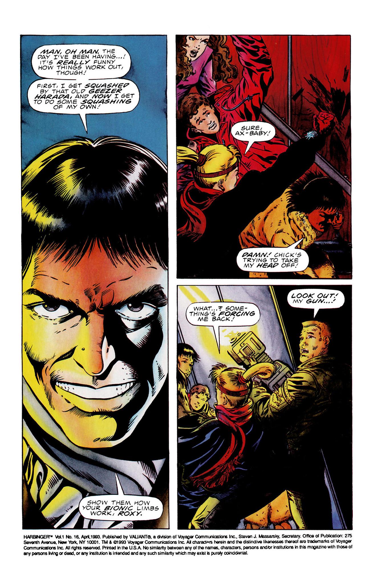 Read online Harbinger (1992) comic -  Issue #16 - 3