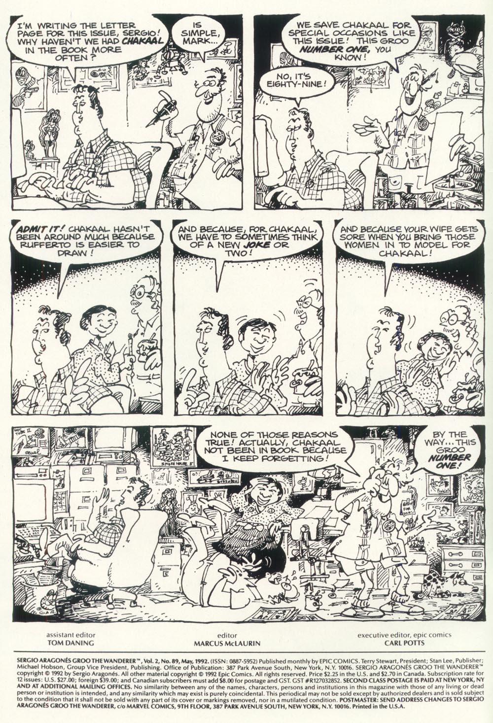 Read online Sergio Aragonés Groo the Wanderer comic -  Issue #89 - 2