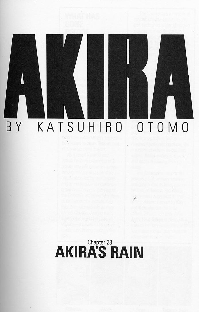 Read online Akira comic -  Issue #23 - 3