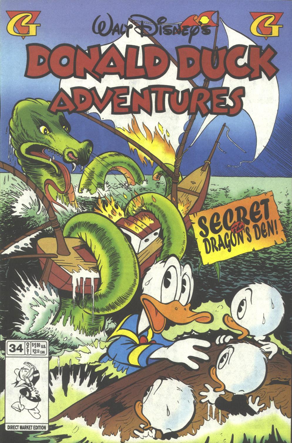 Walt Disney's Donald Duck Adventures (1987) issue 34 - Page 1