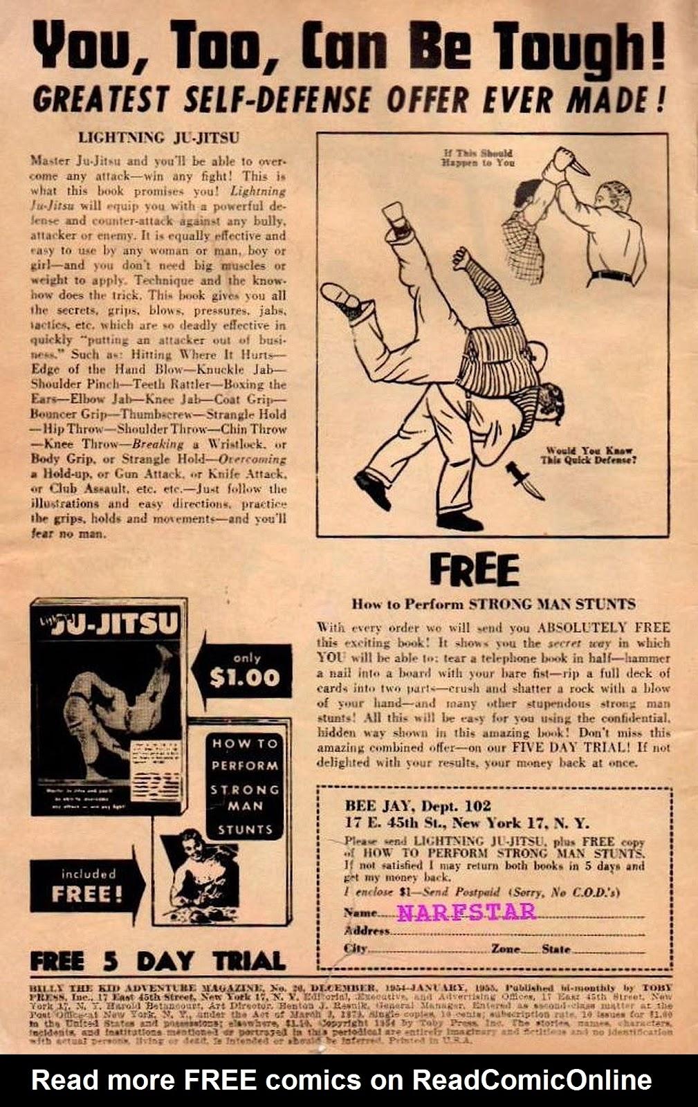 Billy the Kid Adventure Magazine 26 Page 2