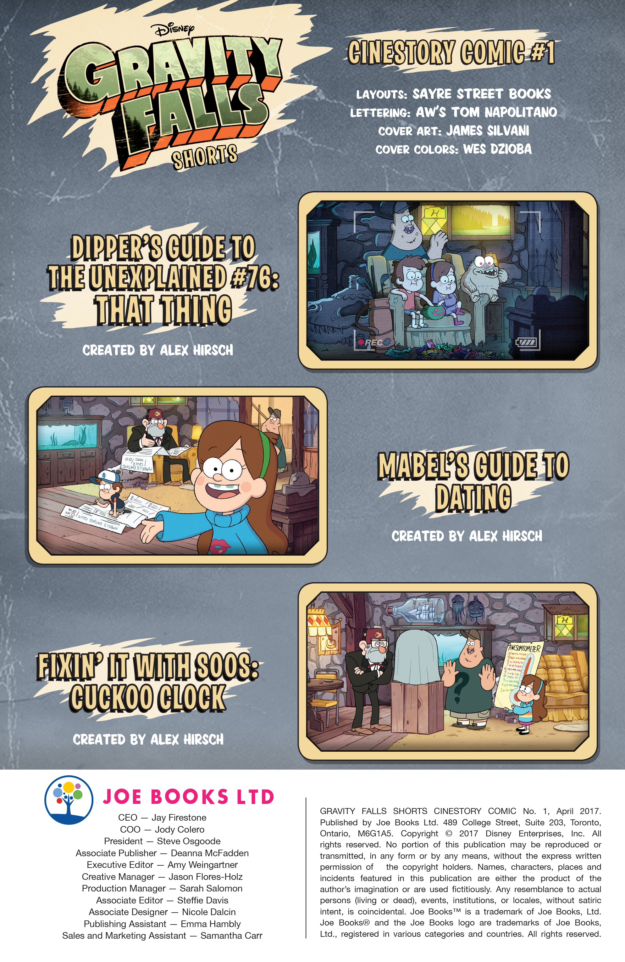Read online Disney Gravity Falls Shorts Cinestory Comic comic -  Issue #1 - 2