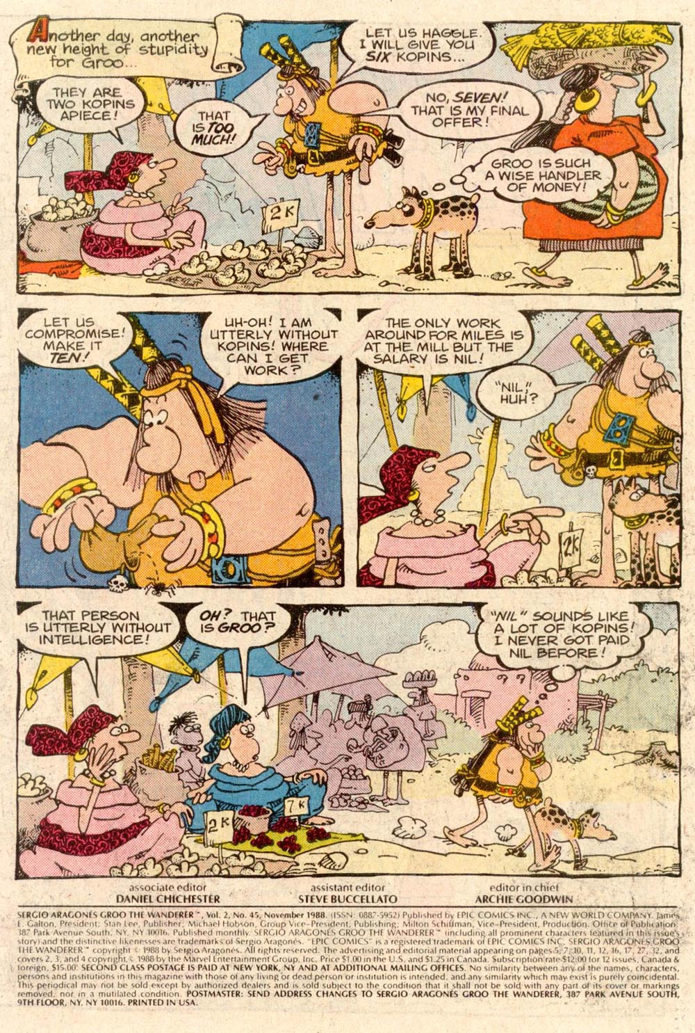 Read online Sergio Aragonés Groo the Wanderer comic -  Issue #45 - 2
