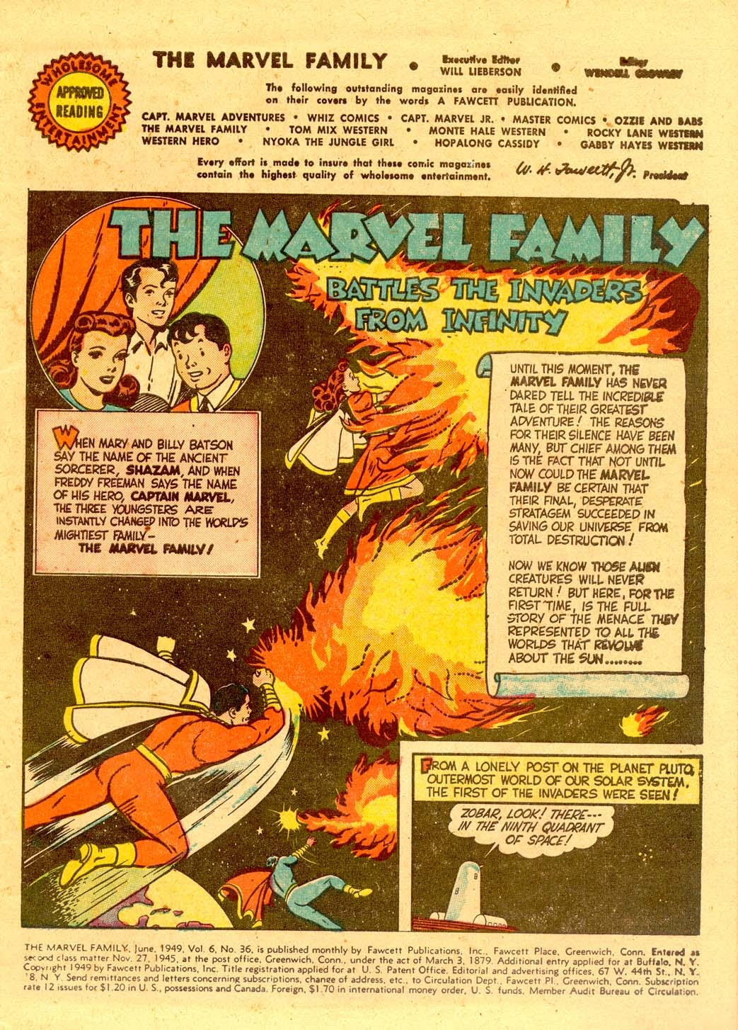 The Marvel Family 36 Page 1