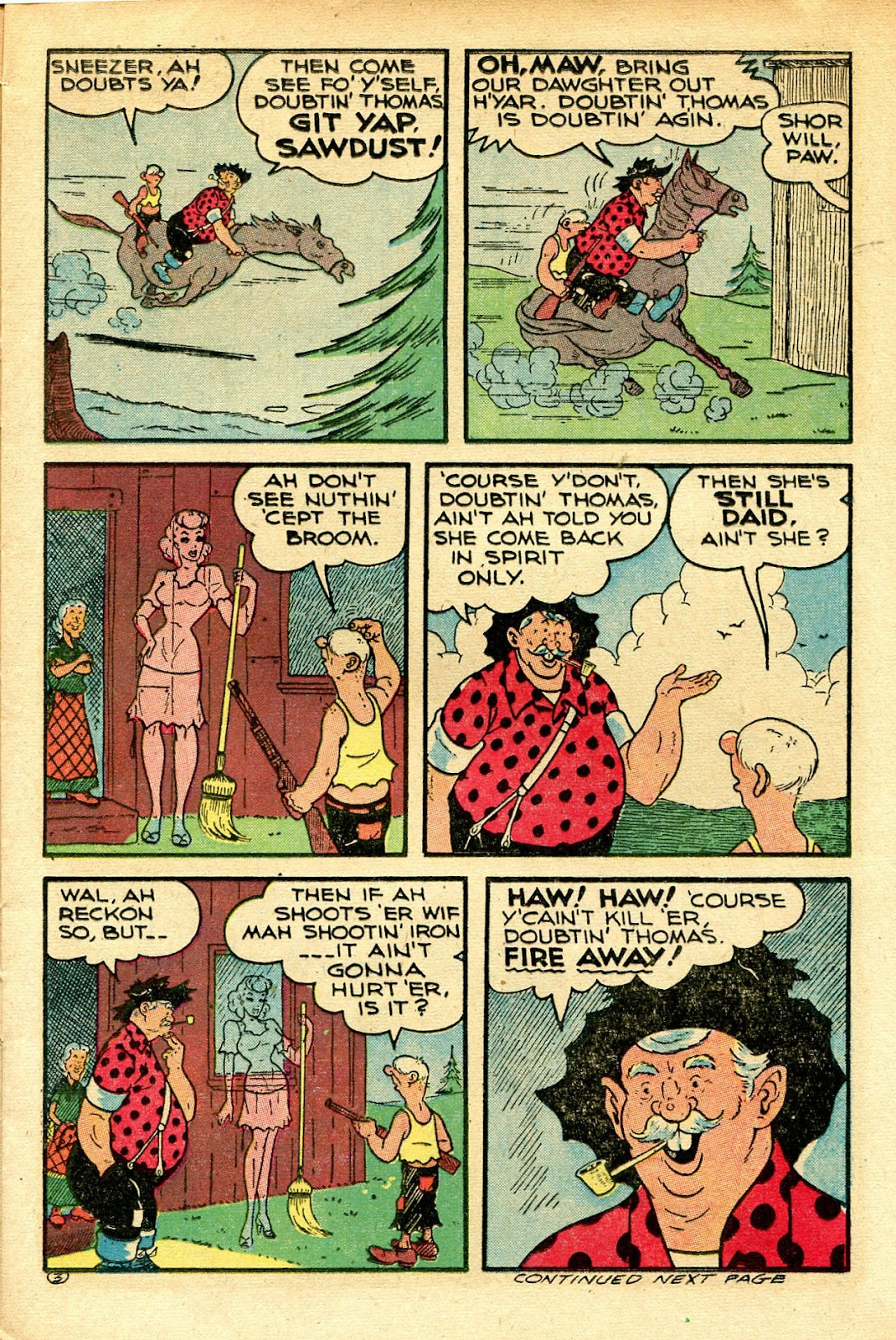 Read online Famous Funnies comic -  Issue #129 - 15