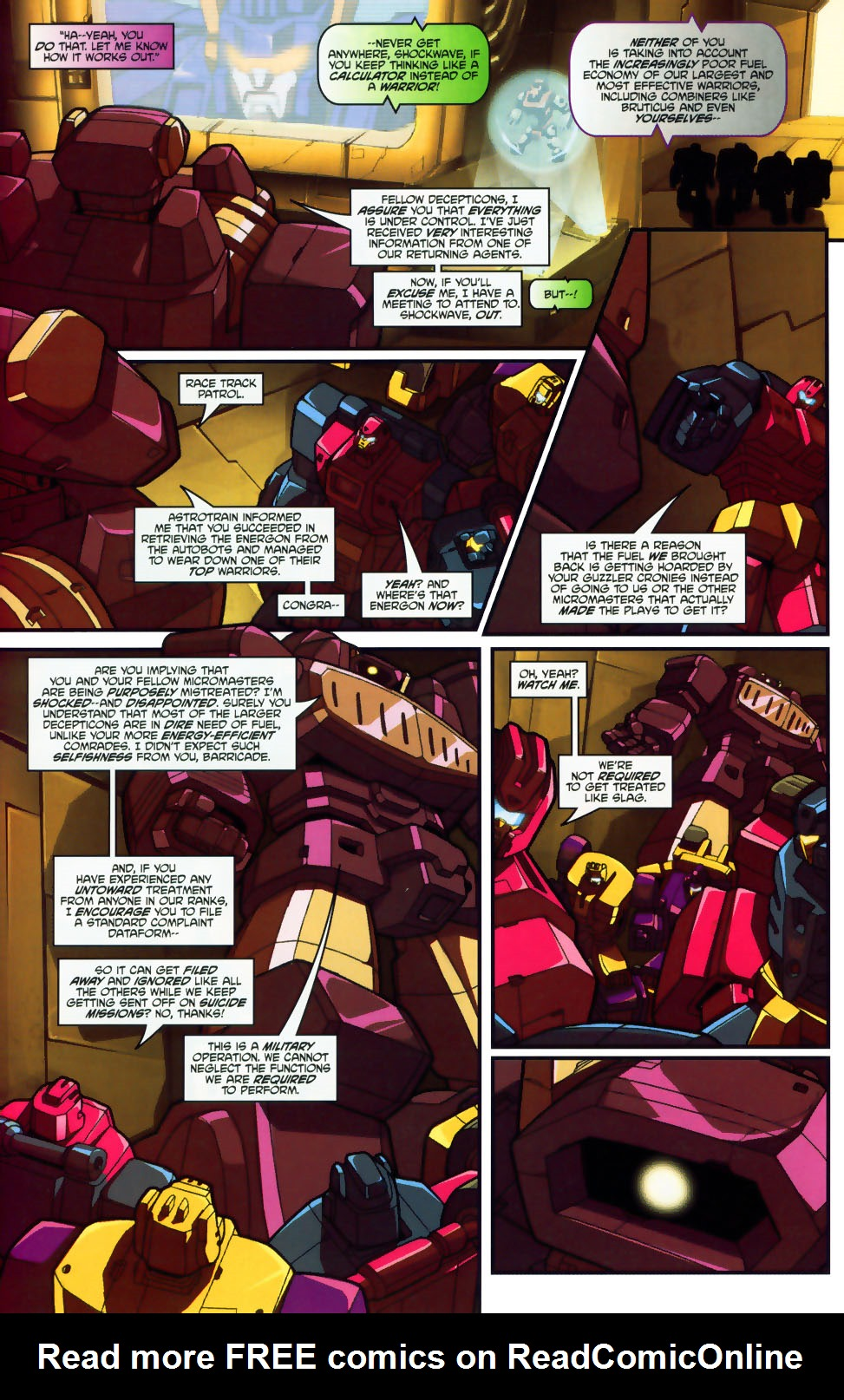 Read online Transformers: Micromasters comic -  Issue #1 - 17