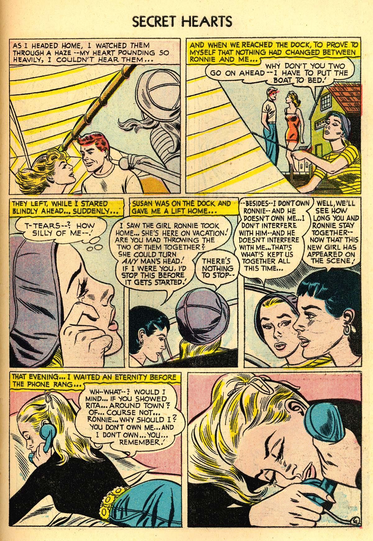 Read online Secret Hearts comic -  Issue #30 - 31