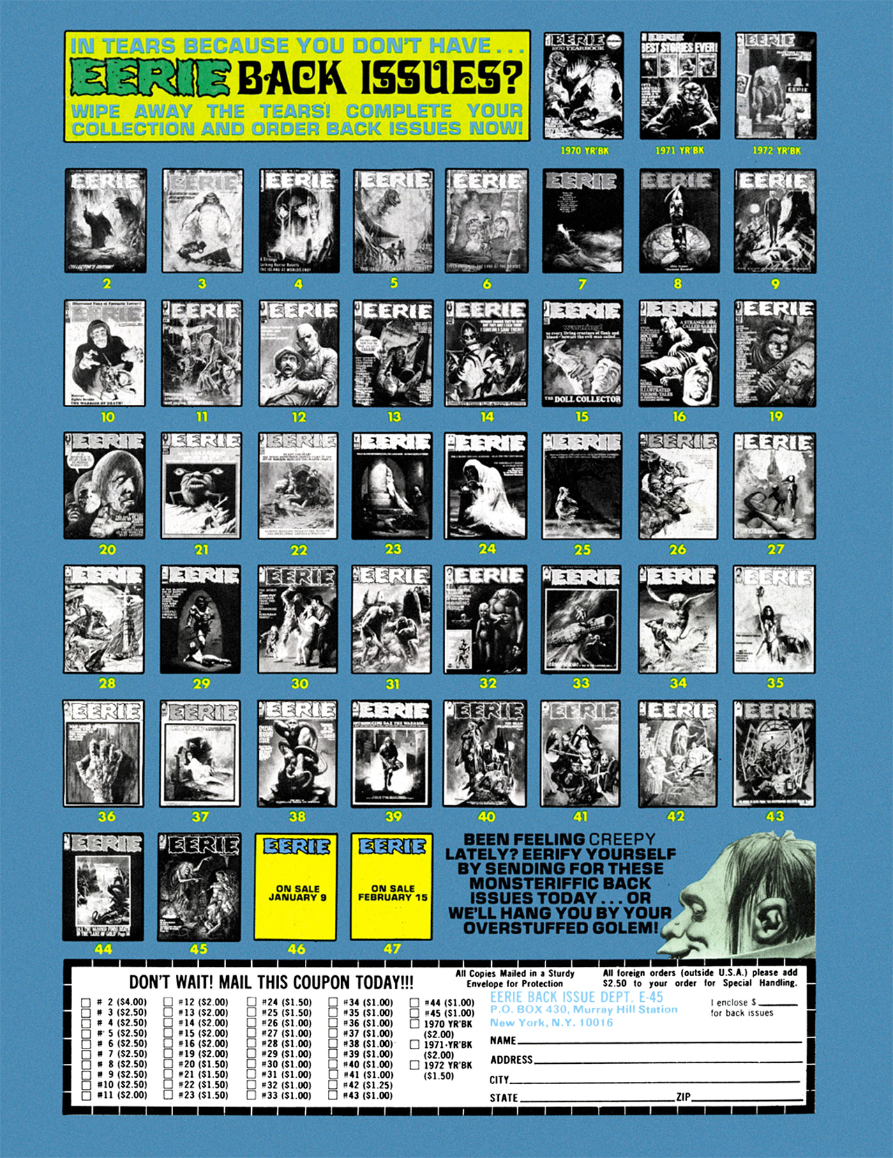 Read online Eerie Archives comic -  Issue # TPB 9 - 205
