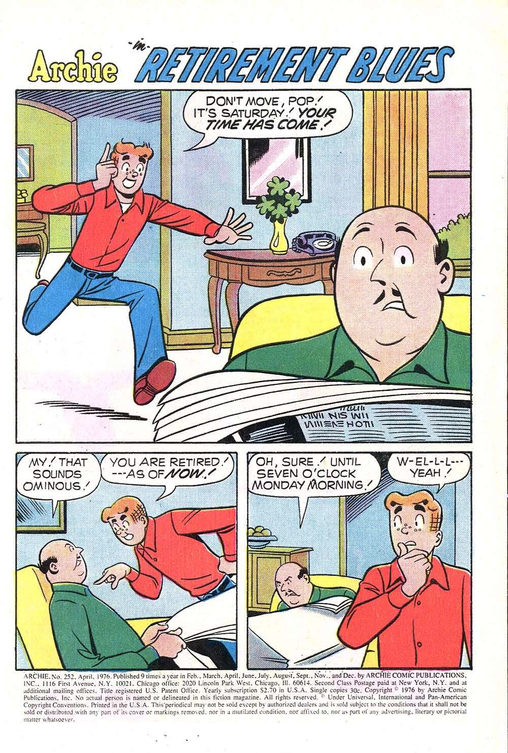 Read online Archie (1960) comic -  Issue #252 - 3