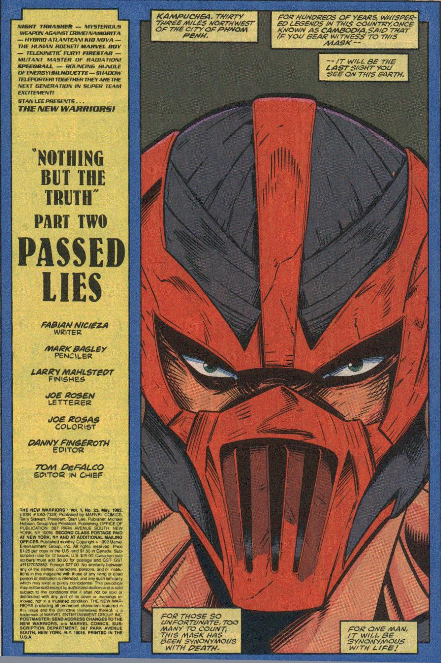 The New Warriors Issue #23 #27 - English 2