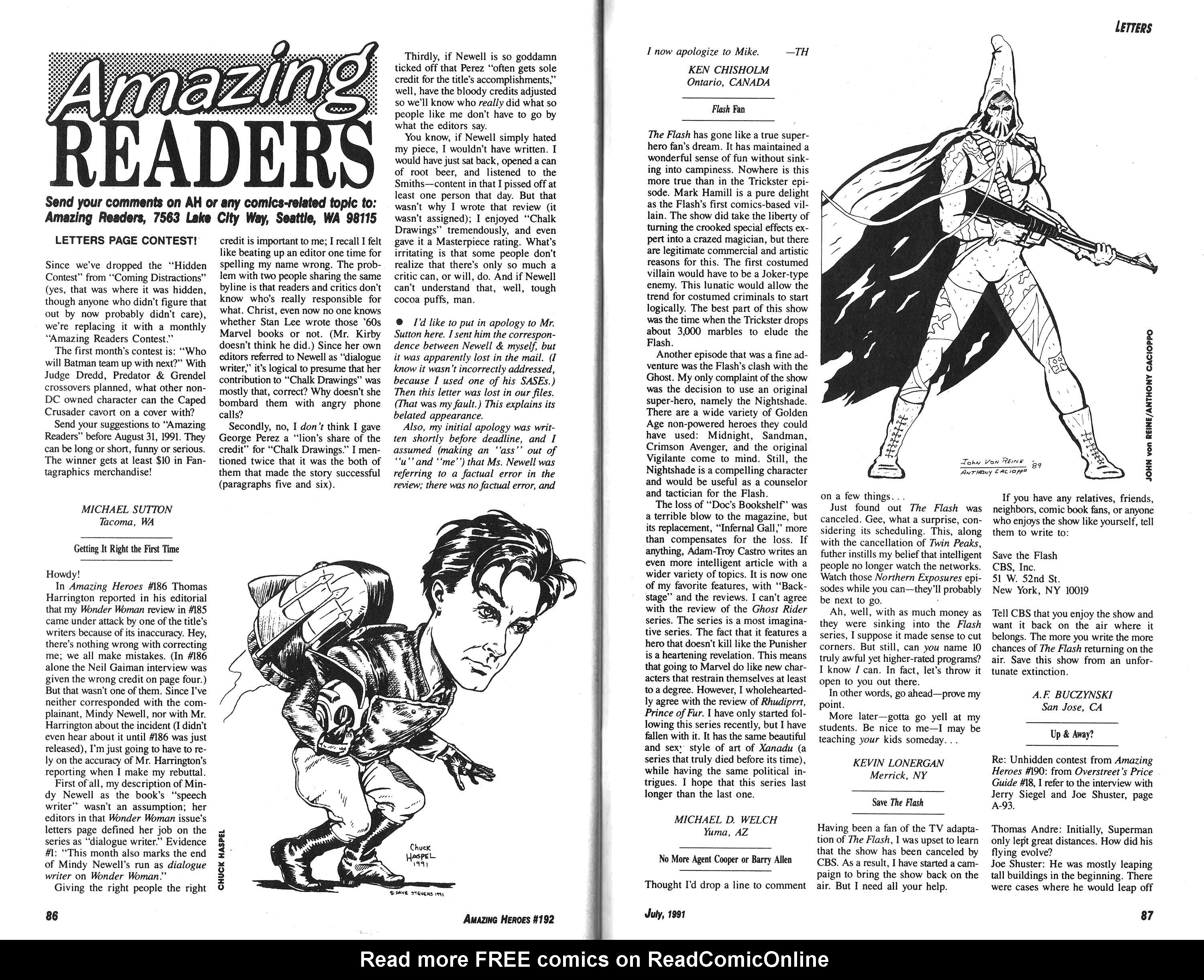 Read online Amazing Heroes comic -  Issue #192 - 44