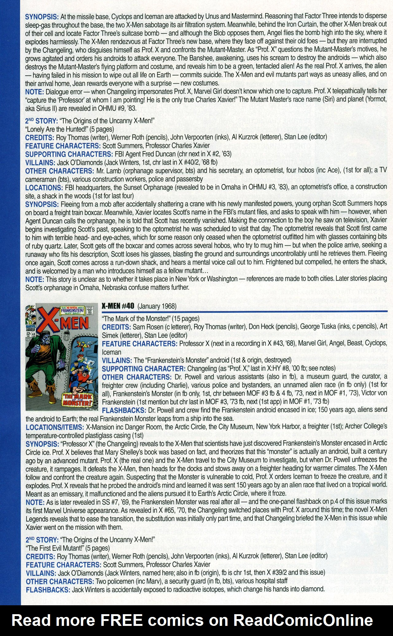 Read online Official Index to the Marvel Universe comic -  Issue #1 - 60