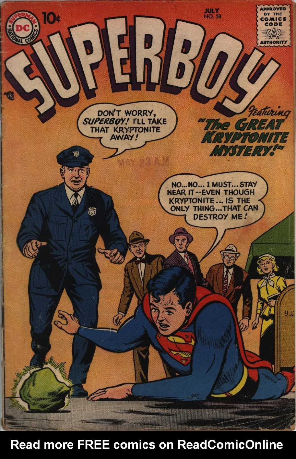 Superboy (1949) issue 58 - Page 1