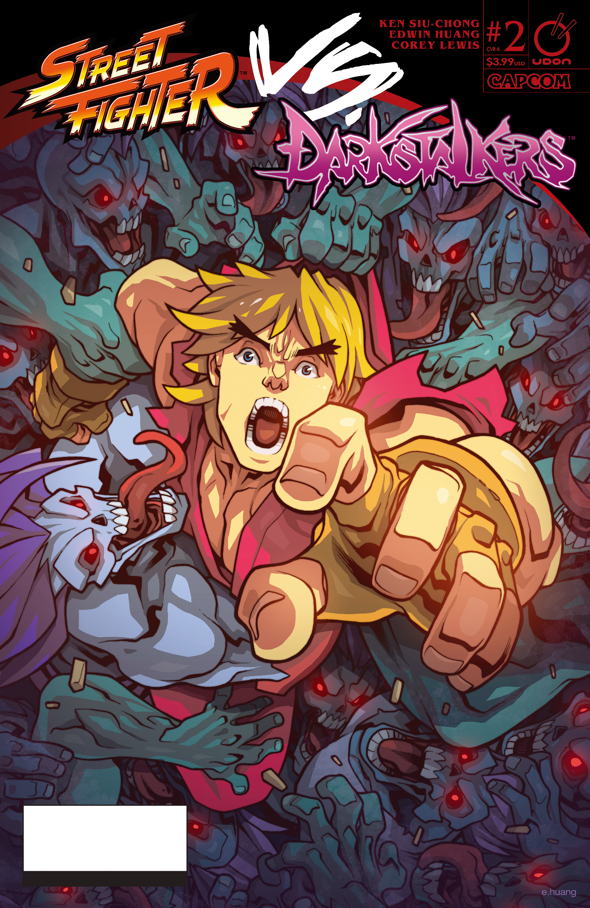 Read online Street Fighter VS Darkstalkers comic -  Issue #2 - 1
