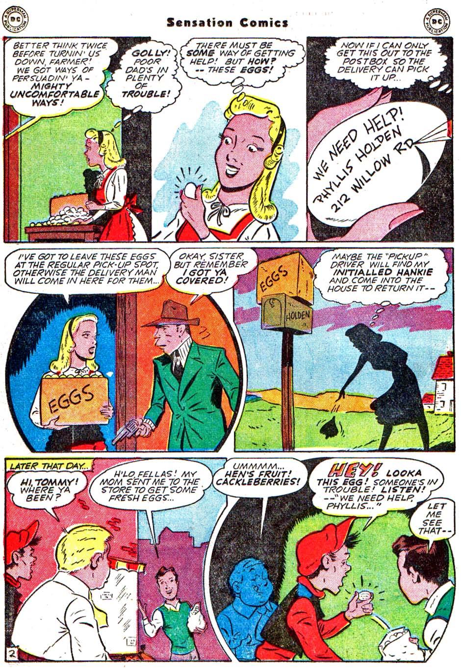 Read online Sensation (Mystery) Comics comic -  Issue #54 - 19