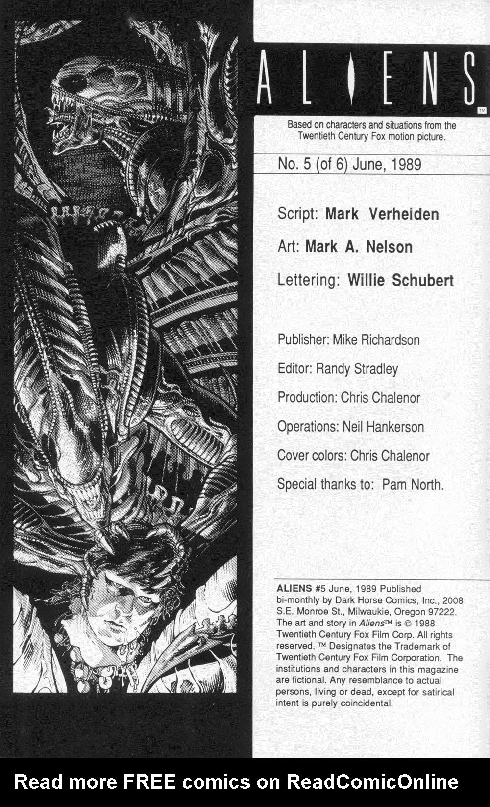 Read online Aliens (1988) comic -  Issue #5 - 2