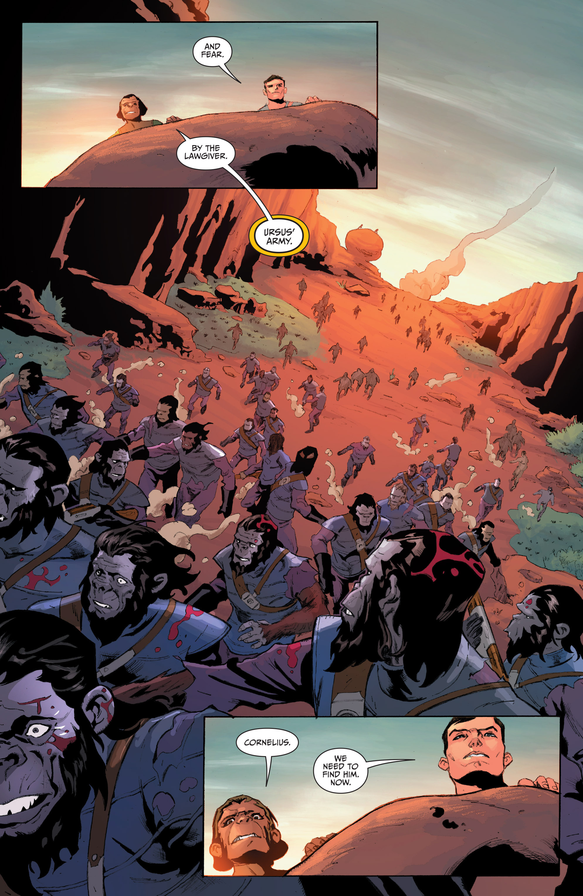 Read online Planet of the Apes/Green Lantern comic -  Issue #4 - 10