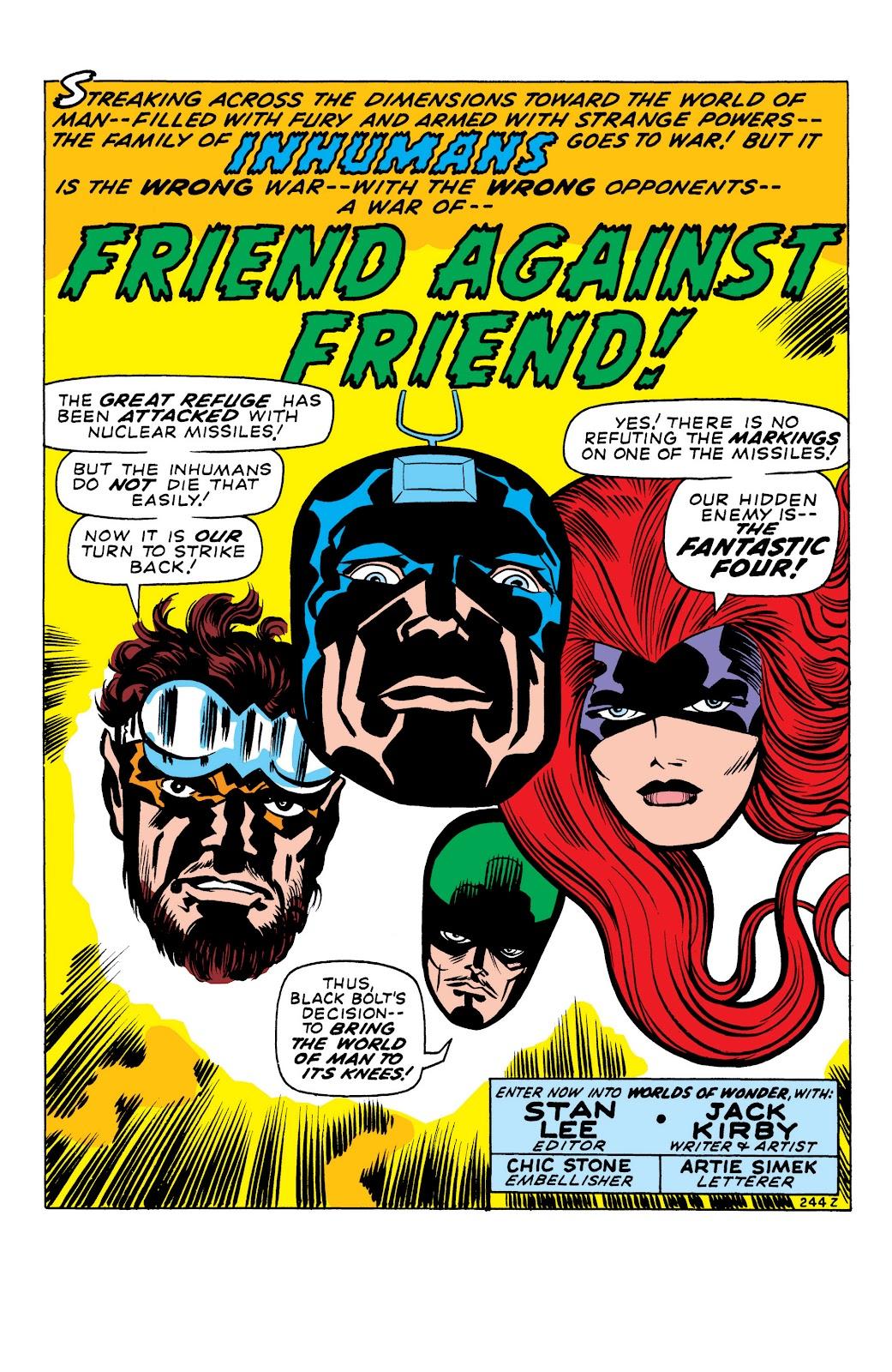 Read online Marvel Masterworks: The Inhumans comic -  Issue # TPB 1 (Part 1) - 81