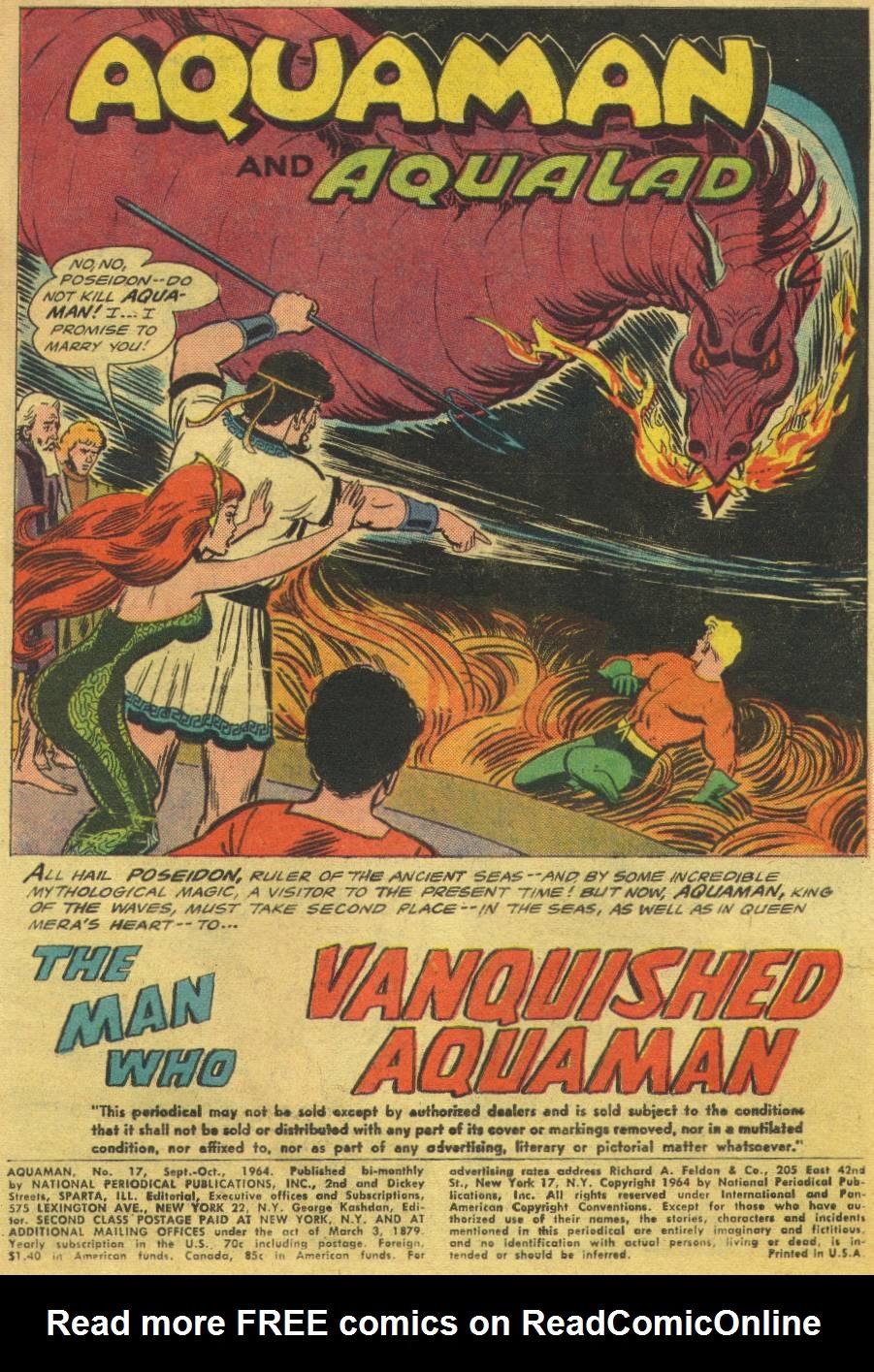 Read online Aquaman (1962) comic -  Issue #17 - 3