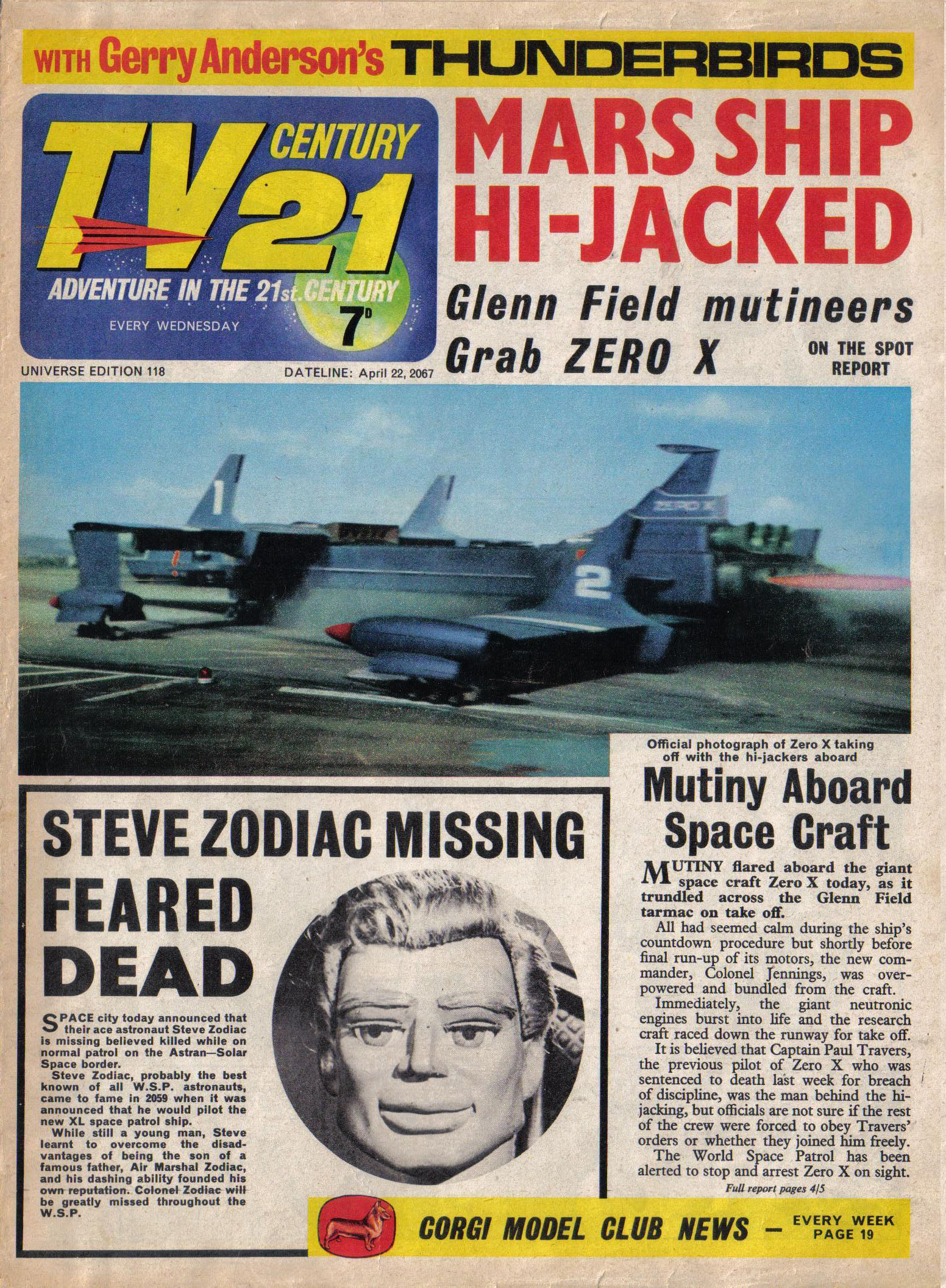 Read online TV Century 21 (TV 21) comic -  Issue #118 - 1