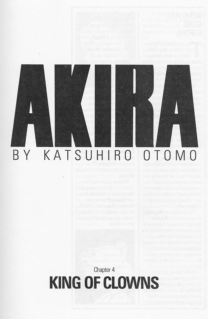 Read online Akira comic -  Issue #4 - 3