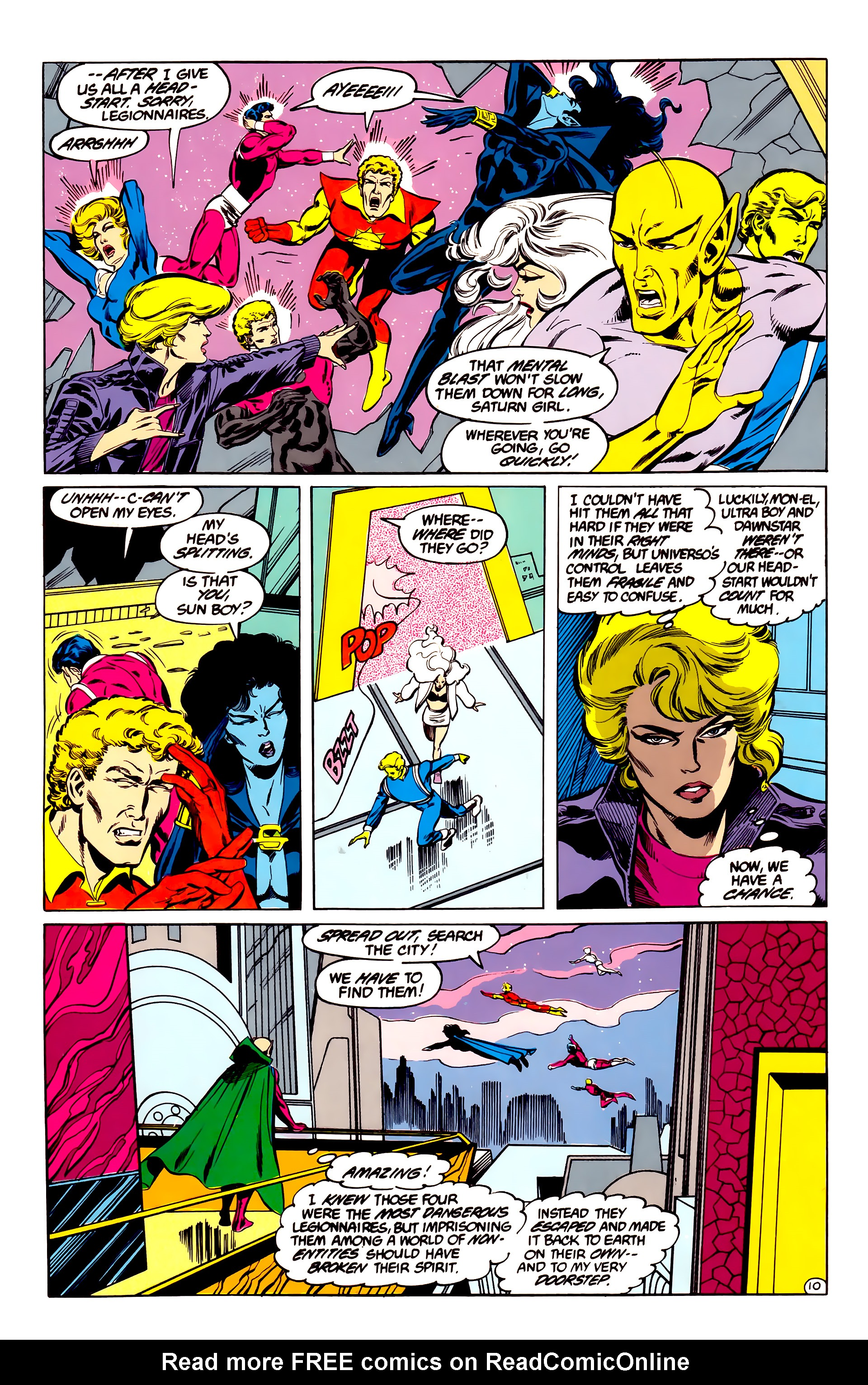 Legion of Super-Heroes (1984) 35 Page 10