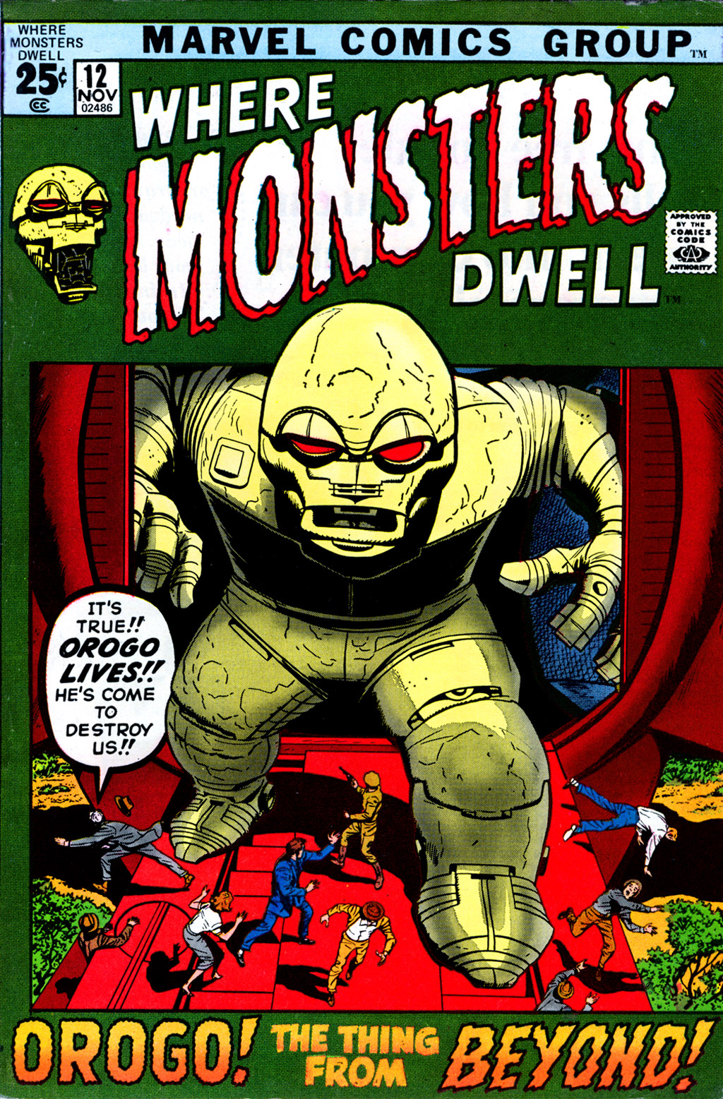 Where Monsters Dwell (1970) issue 12 - Page 1