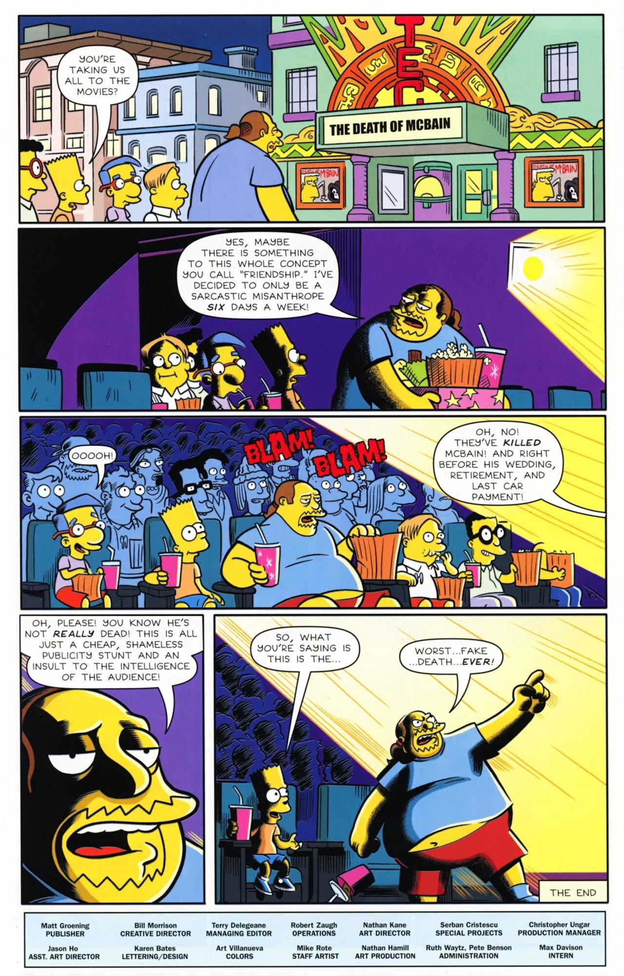 Read online Bongo Comics presents Comic Book Guy: The Comic Book comic -  Issue #5 - 32
