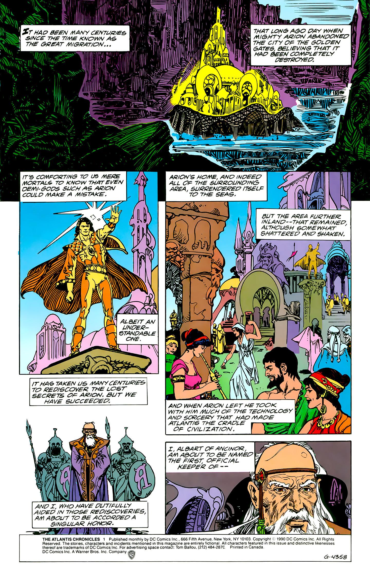 Read online Atlantis Chronicles comic -  Issue #1 - 2