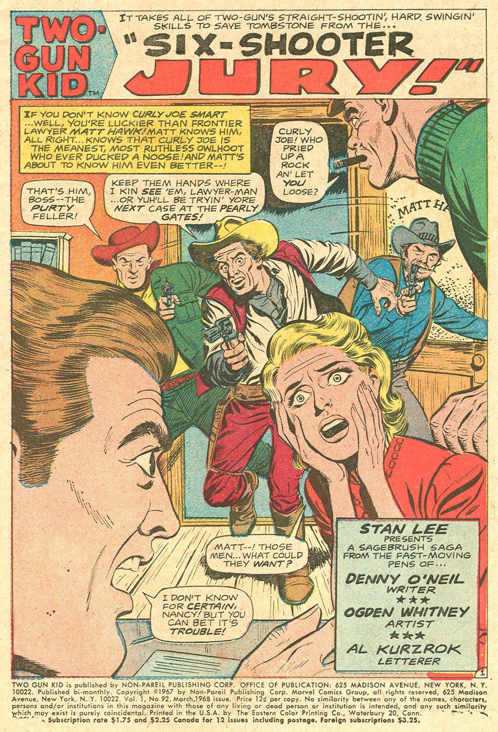 Read online Two-Gun Kid comic -  Issue #92 - 3