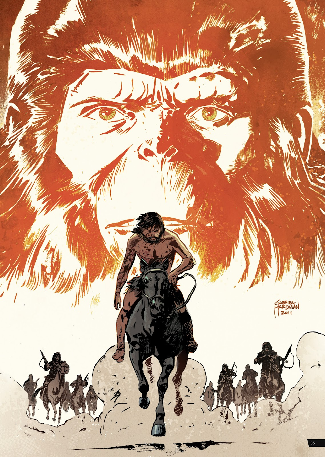 Read online Planet of the Apes Artist Tribute comic -  Issue # TPB - 53