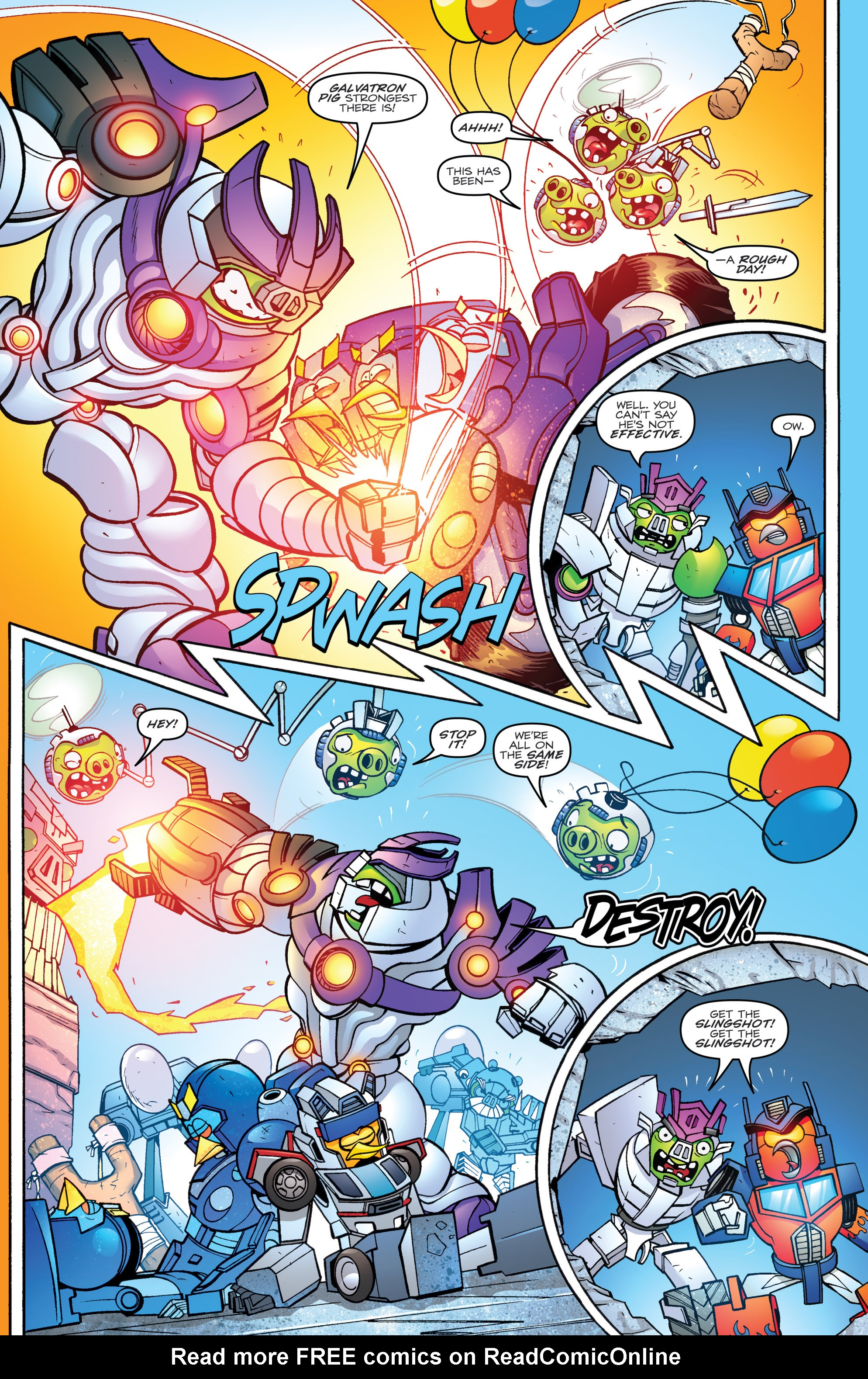 Read online Angry Birds Transformers comic -  Issue #4 - 14