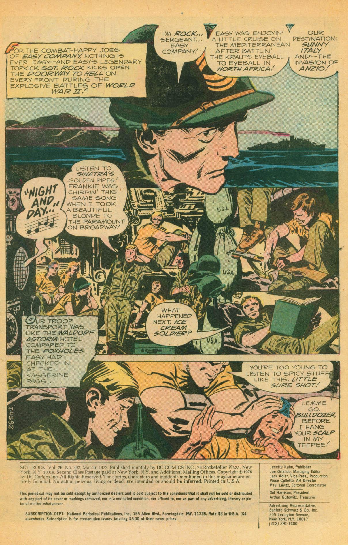 Read online Sgt. Rock comic -  Issue #302 - 3