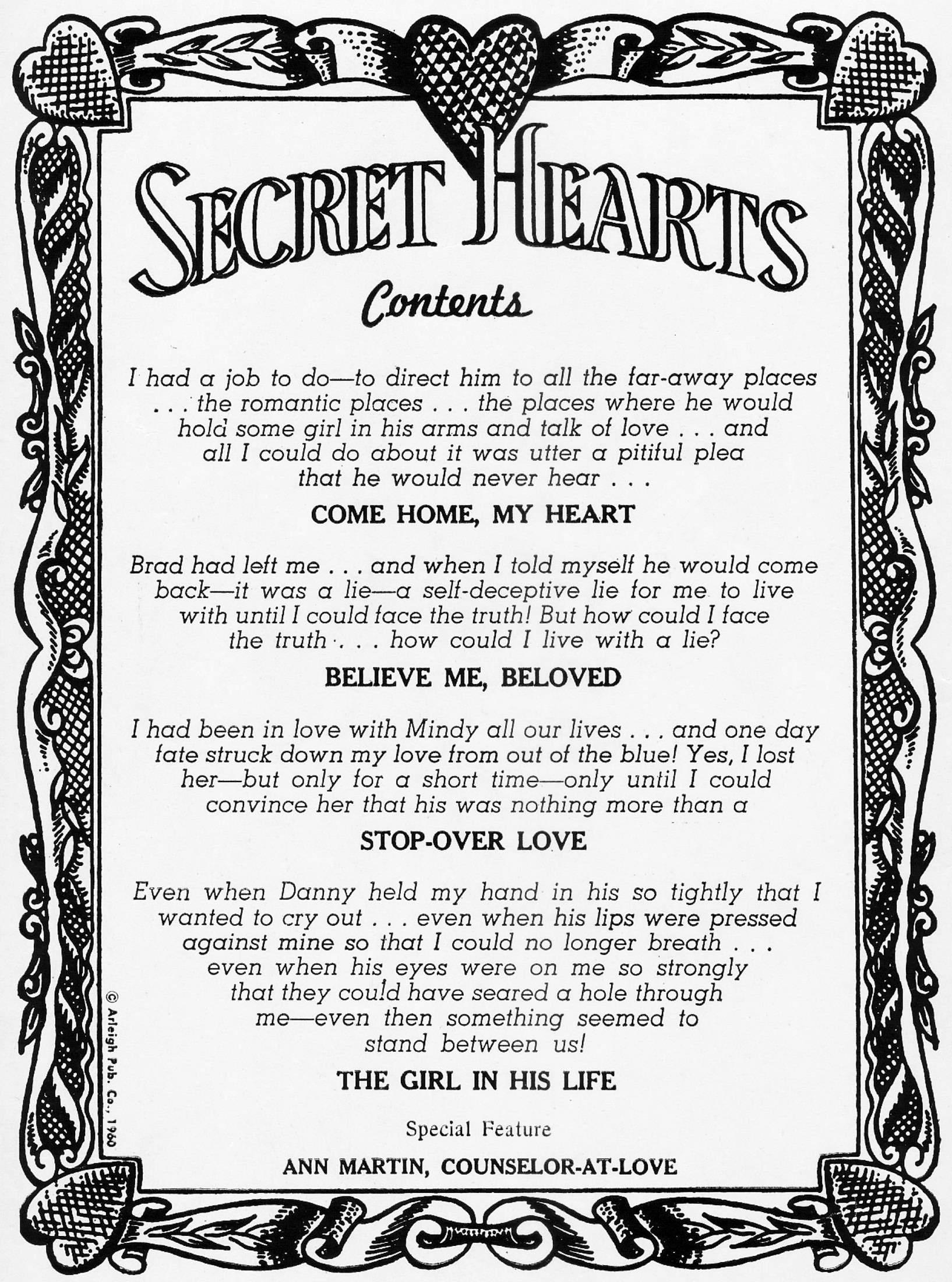 Read online Secret Hearts comic -  Issue #67 - 2