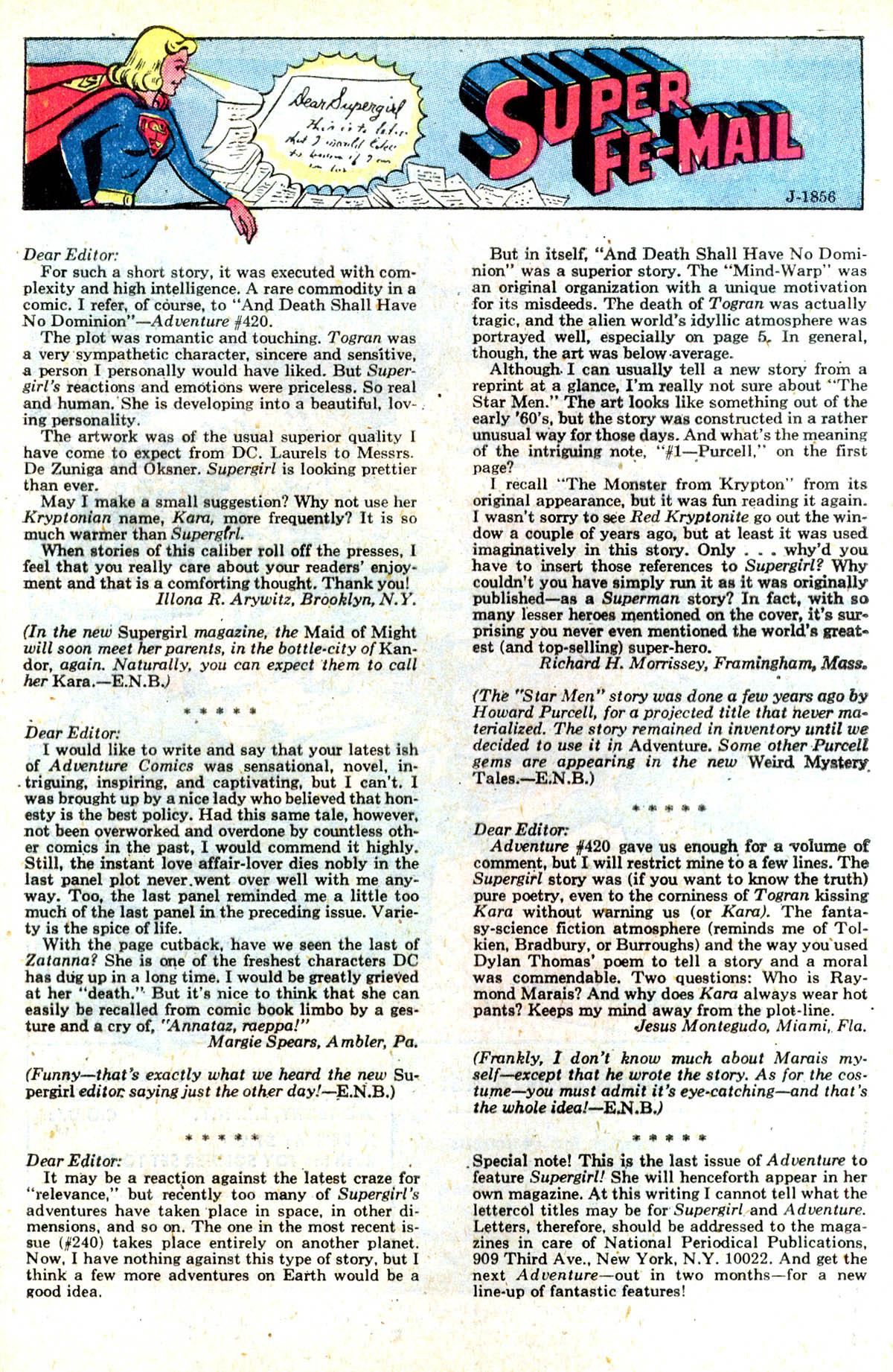 Read online Adventure Comics (1938) comic -  Issue #424 - 26