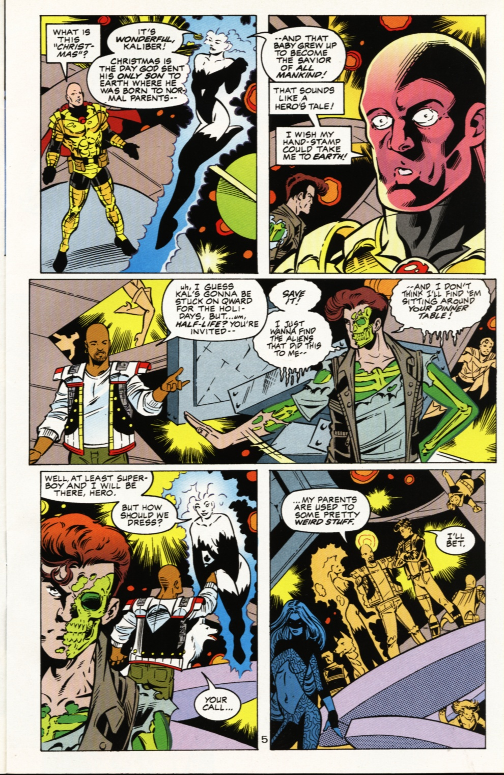Read online Superboy & The Ravers comic -  Issue #5 - 6