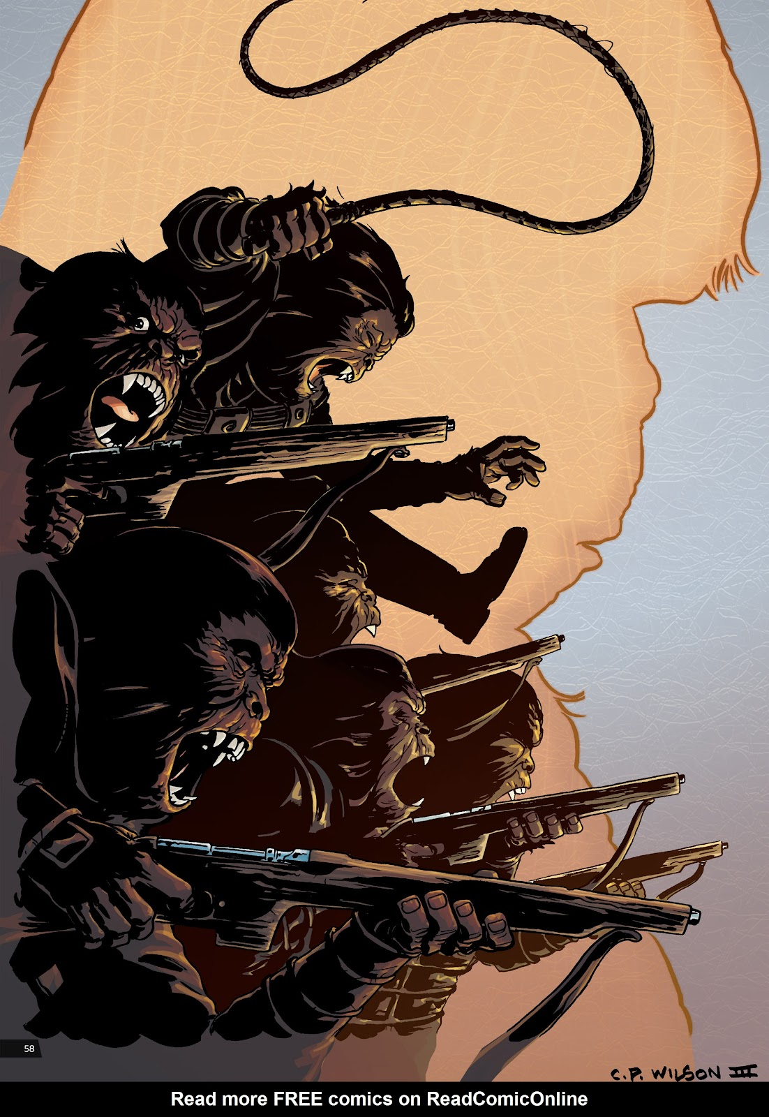 Read online Planet of the Apes Artist Tribute comic -  Issue # TPB - 58