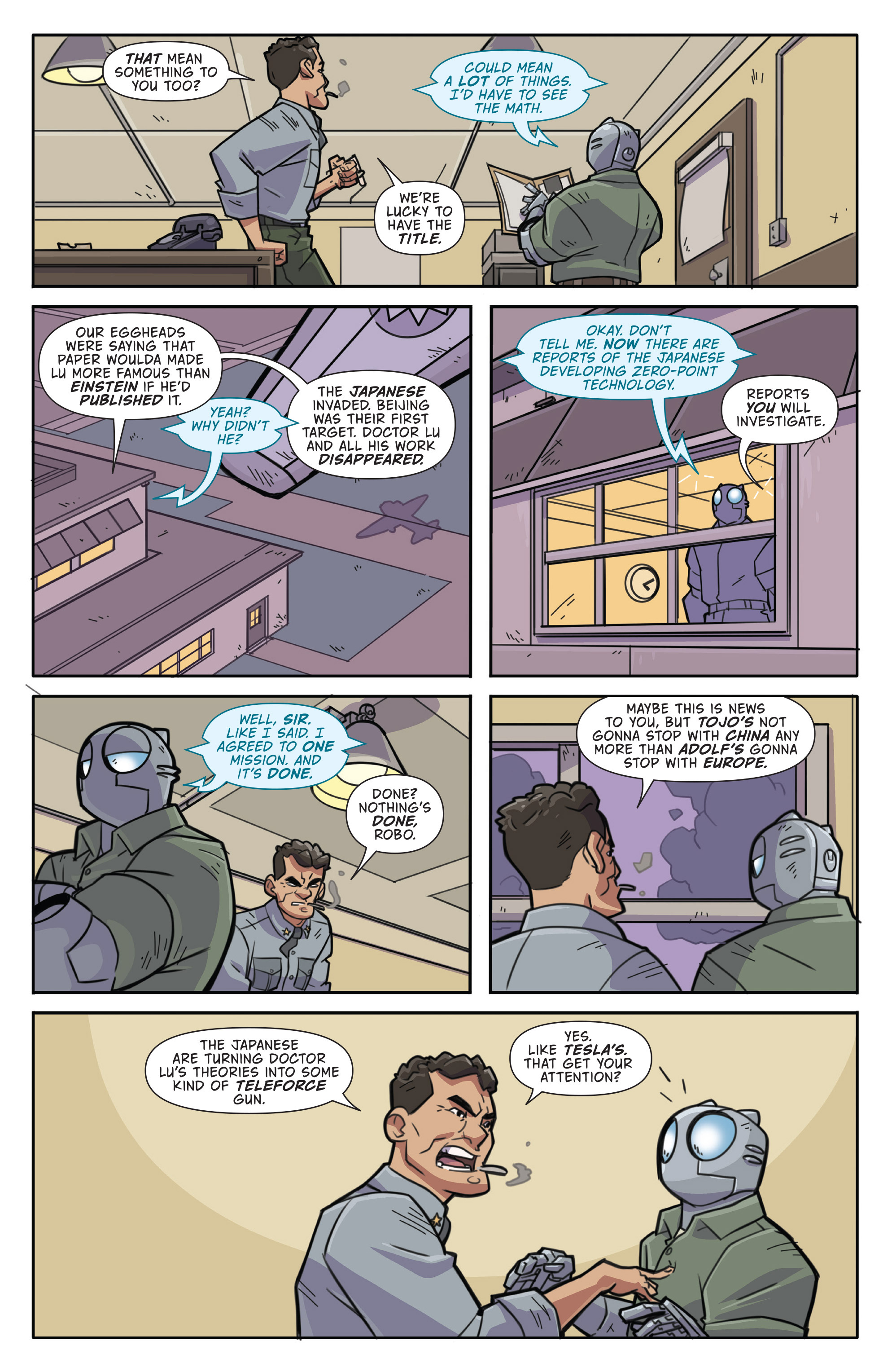 Read online Atomic Robo and the Temple of Od comic -  Issue #1 - 7