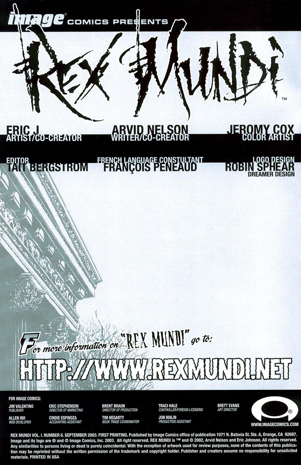 Read online Rex Mundi comic -  Issue #6 - 1