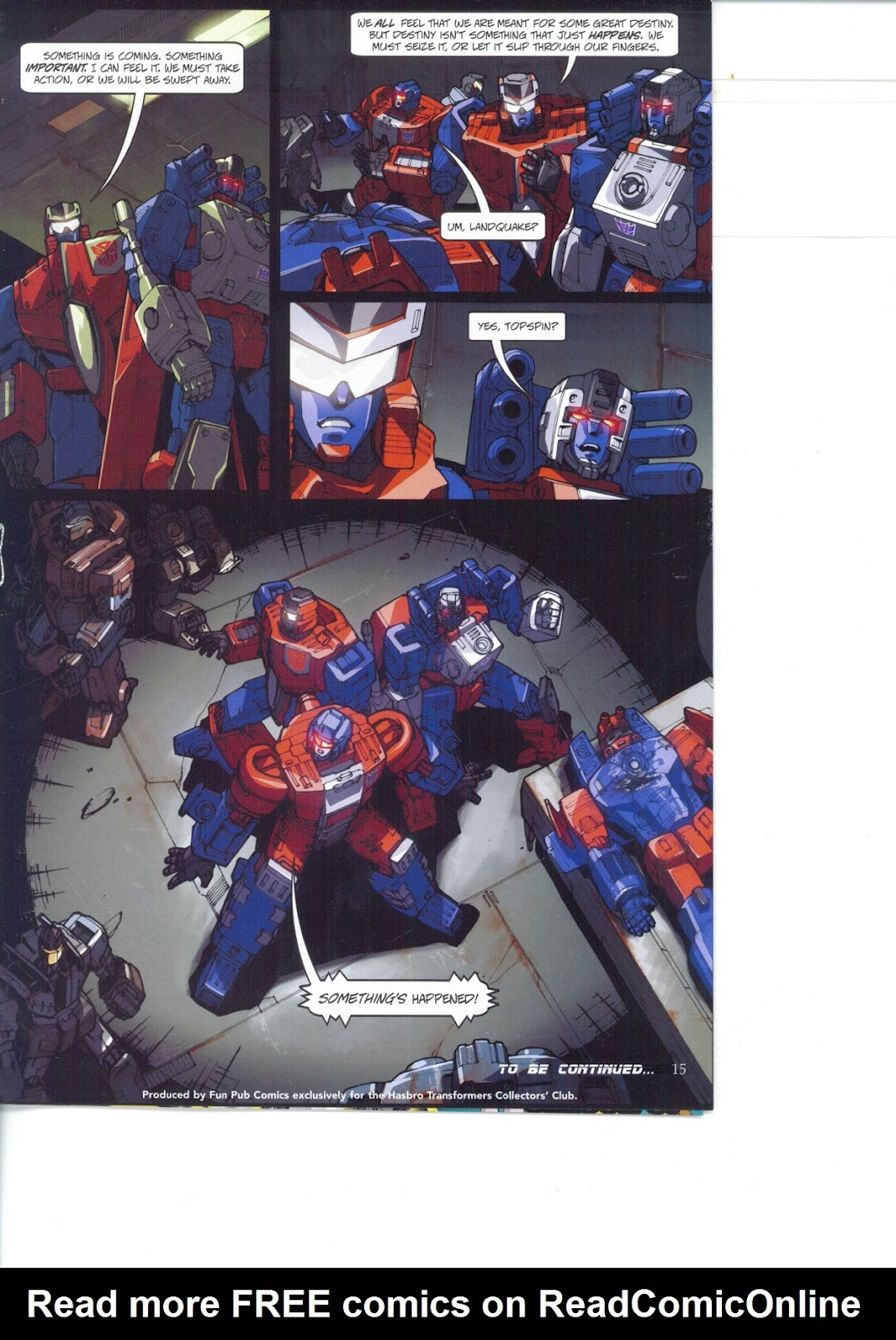 Read online Transformers: Collectors' Club comic -  Issue #26 - 15