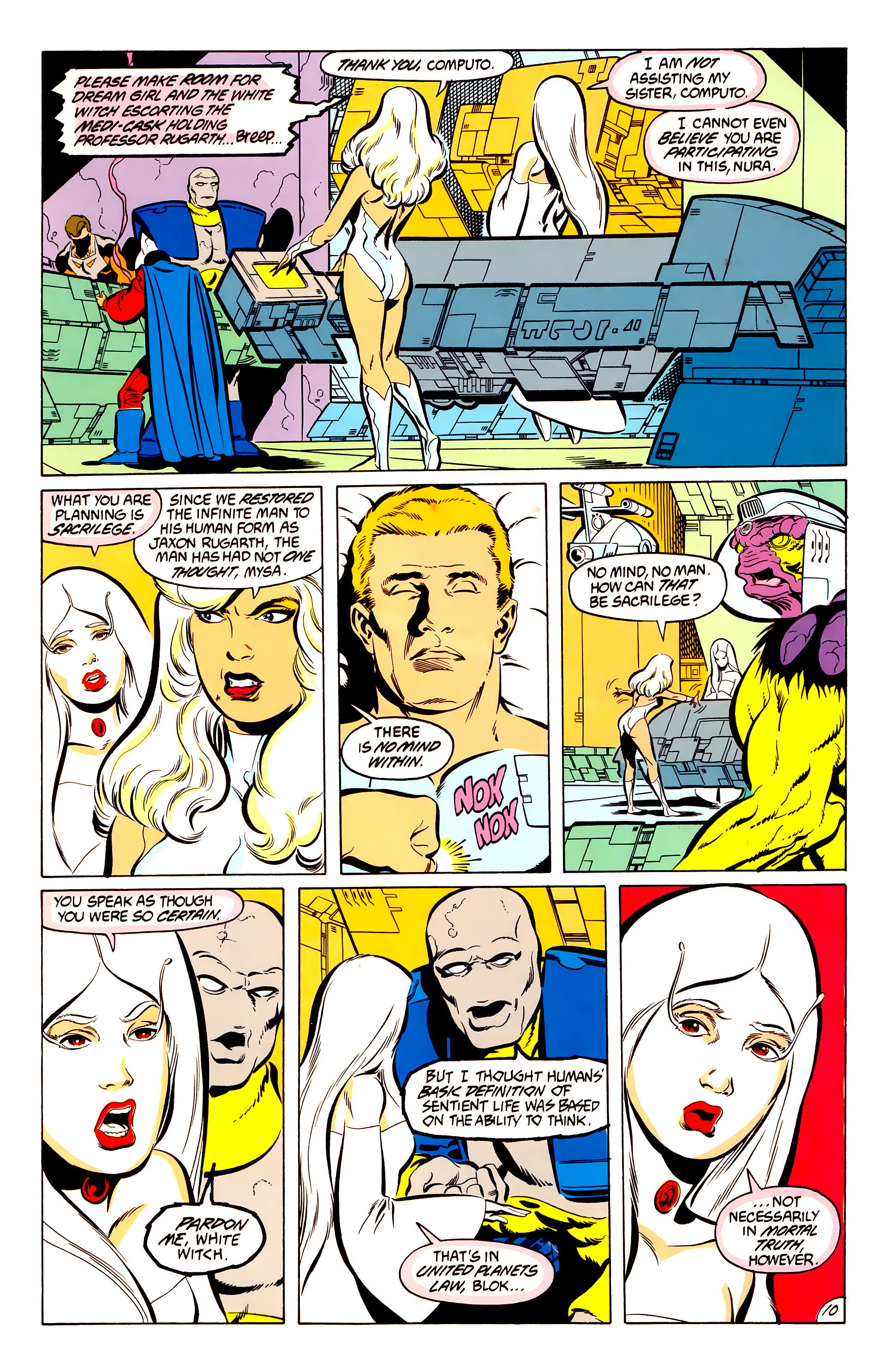 Legion of Super-Heroes (1984) 50 Page 10