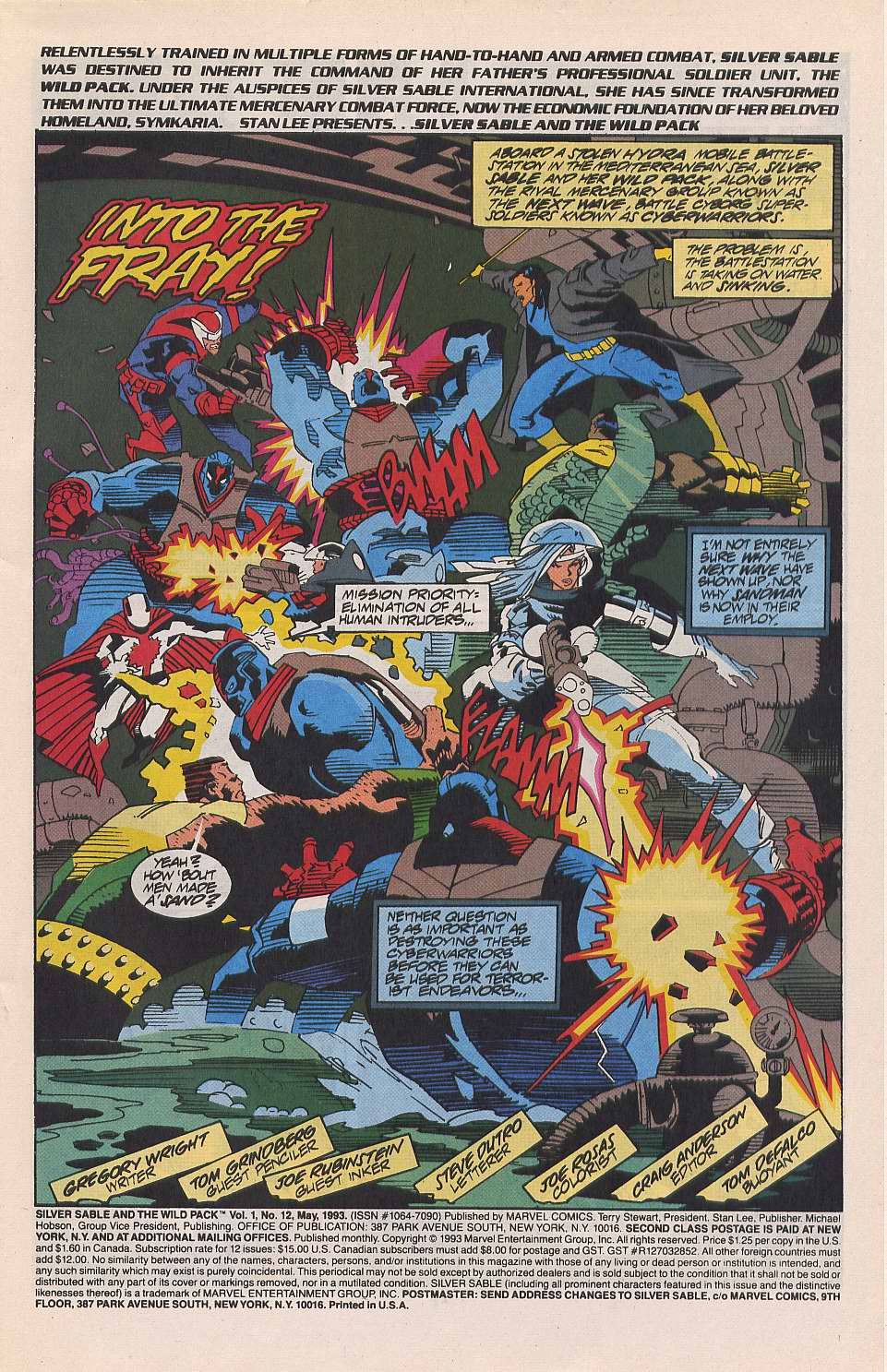 Read online Silver Sable and the Wild Pack comic -  Issue #12 - 2