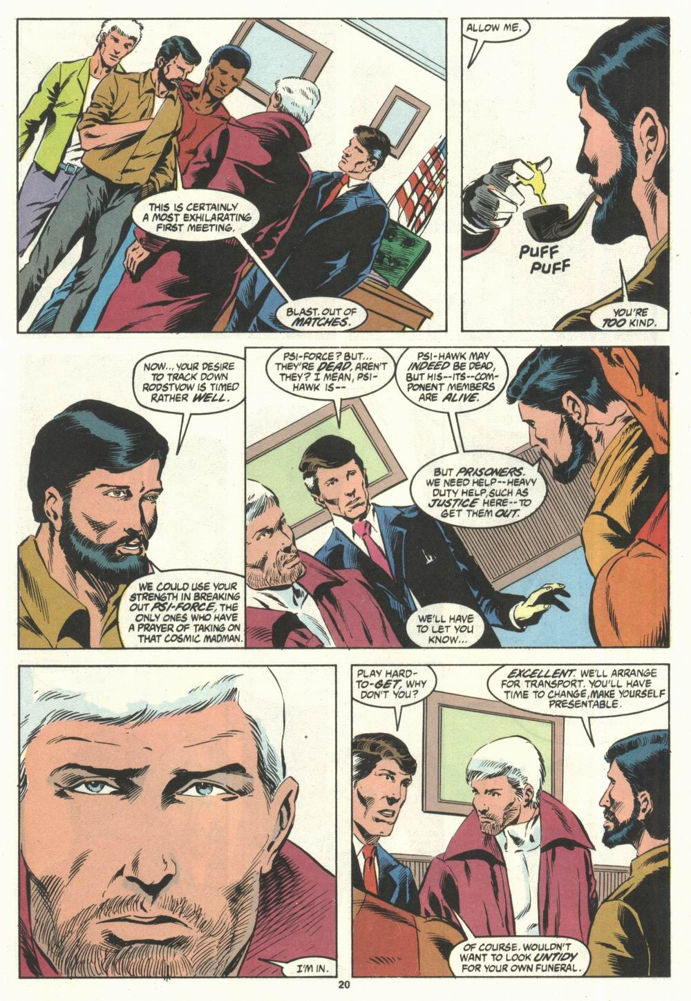 Read online Justice (1986) comic -  Issue #28 - 22
