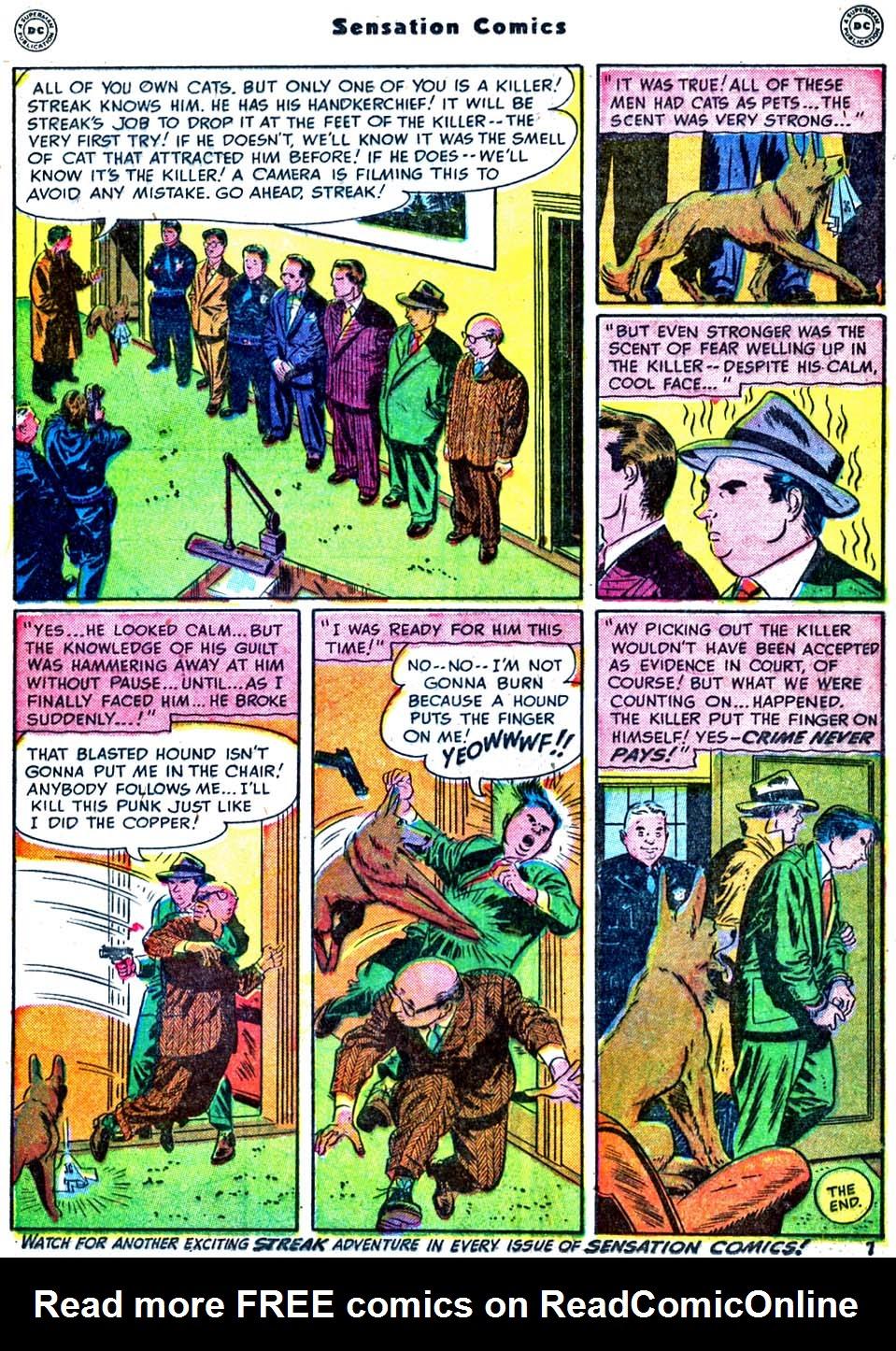 Read online Sensation (Mystery) Comics comic -  Issue #91 - 23