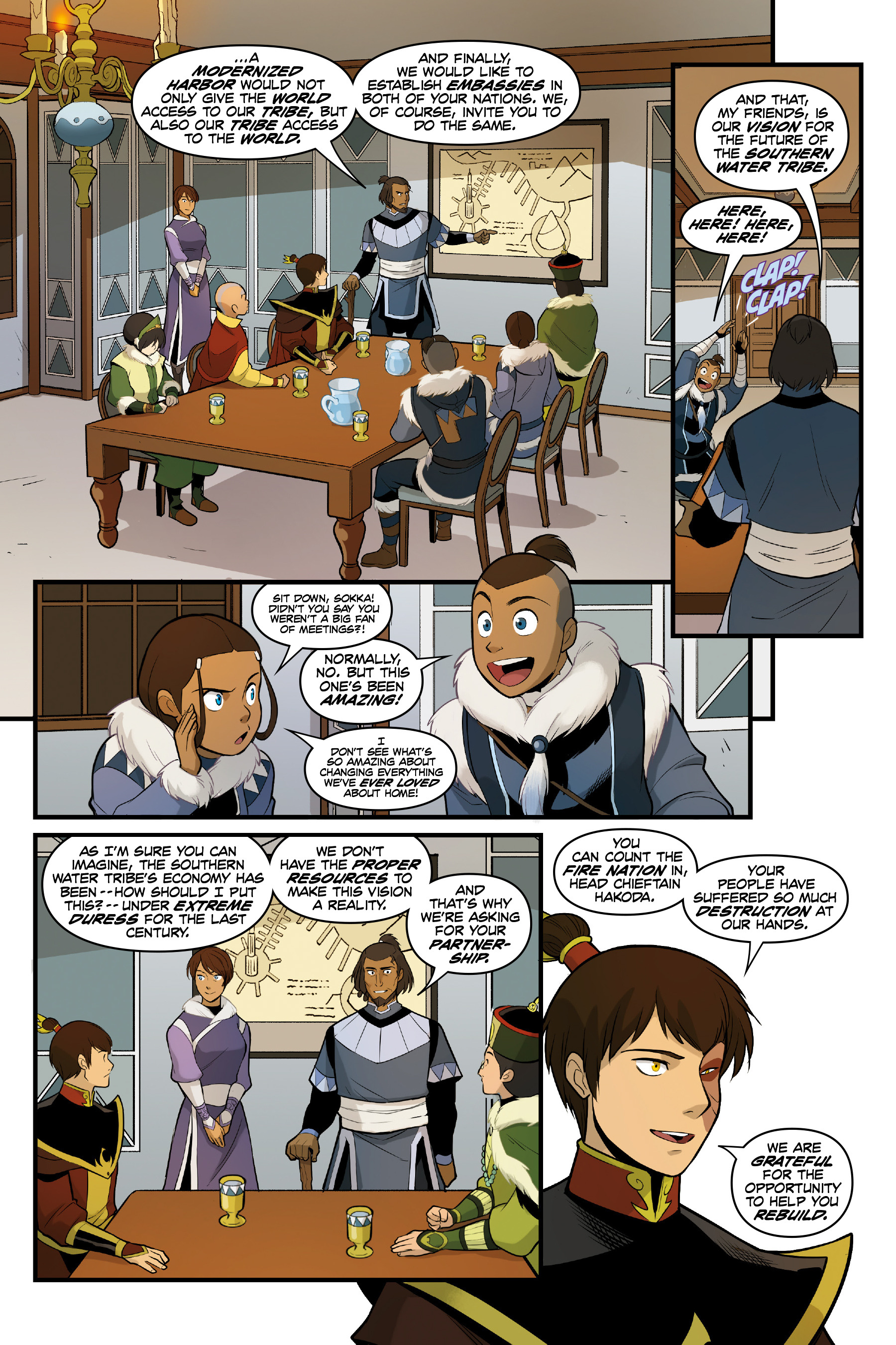 Read online Nickelodeon Avatar: The Last Airbender - North and South comic -  Issue #3 - 23