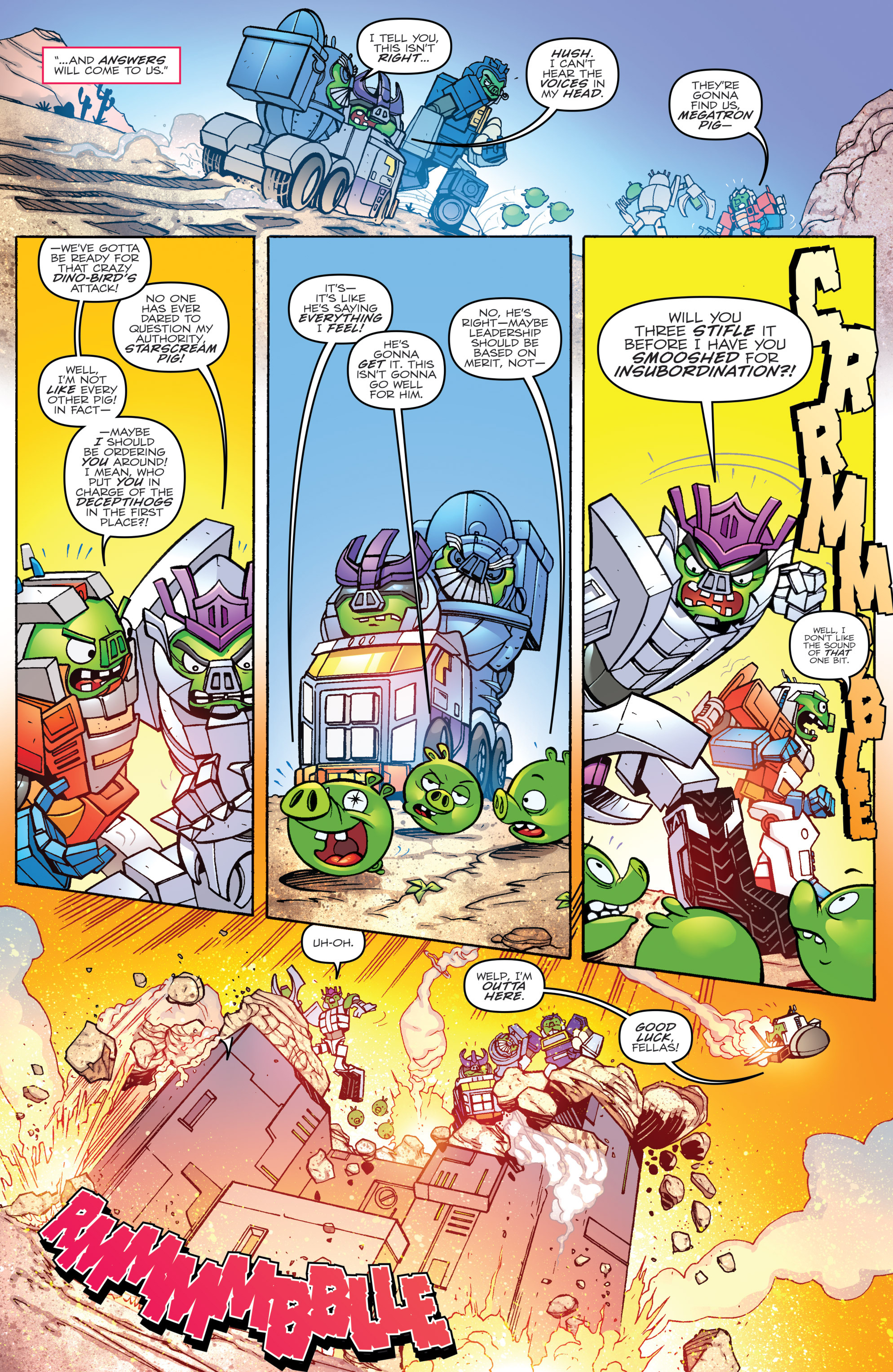 Read online Angry Birds Transformers comic -  Issue #2 - 10