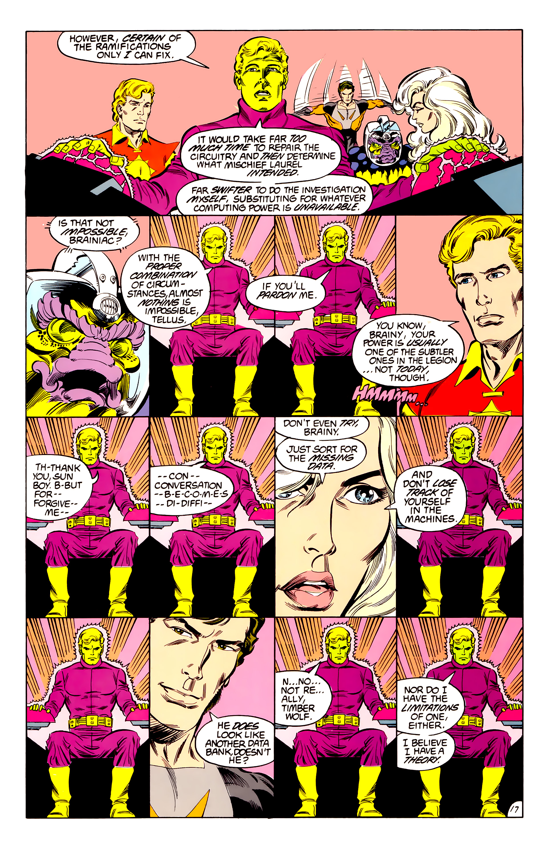 Legion of Super-Heroes (1984) 42 Page 17
